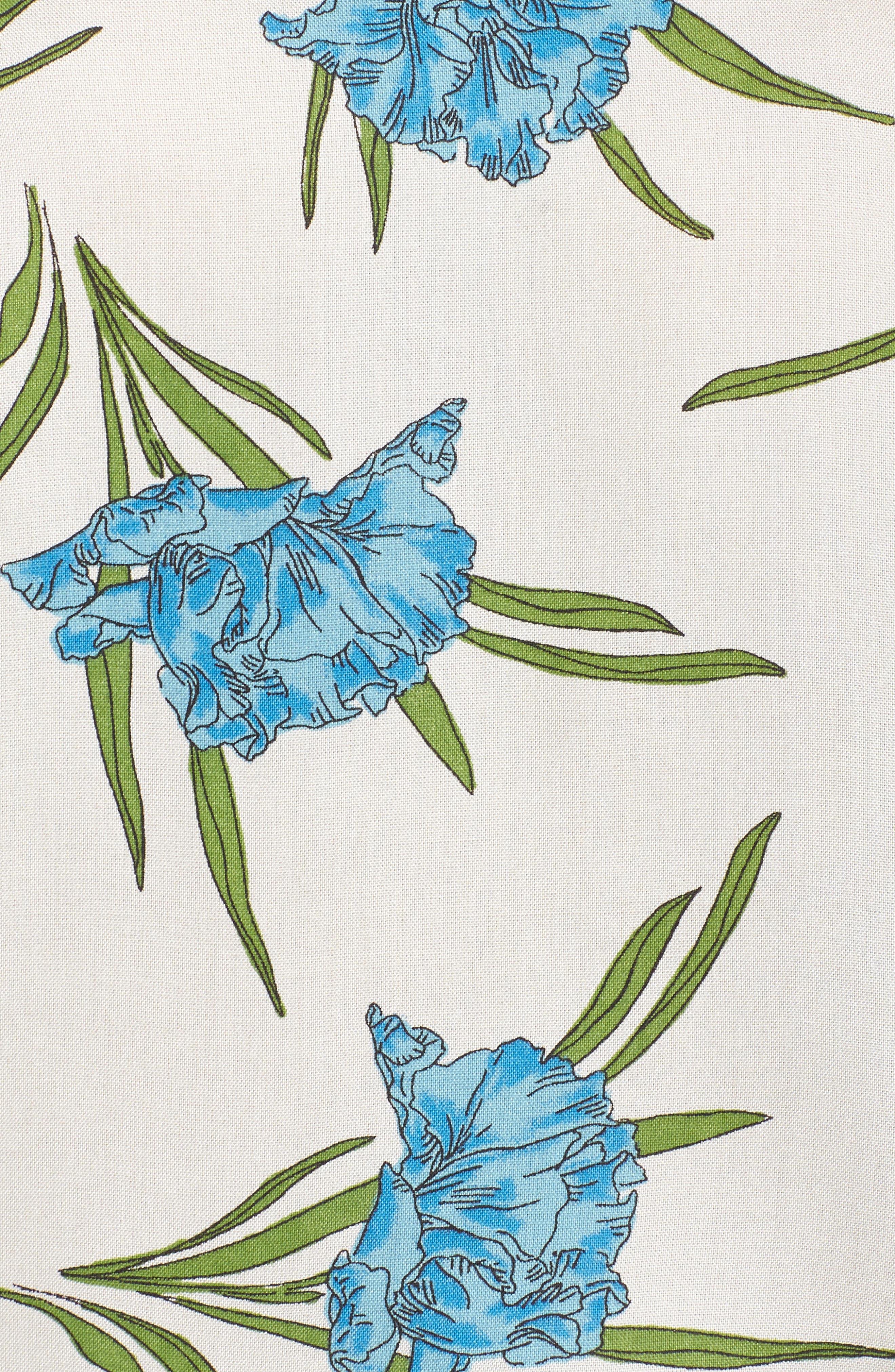Botanical Short Pajamas,                             Alternate thumbnail 6, color,                             Ivory Multi