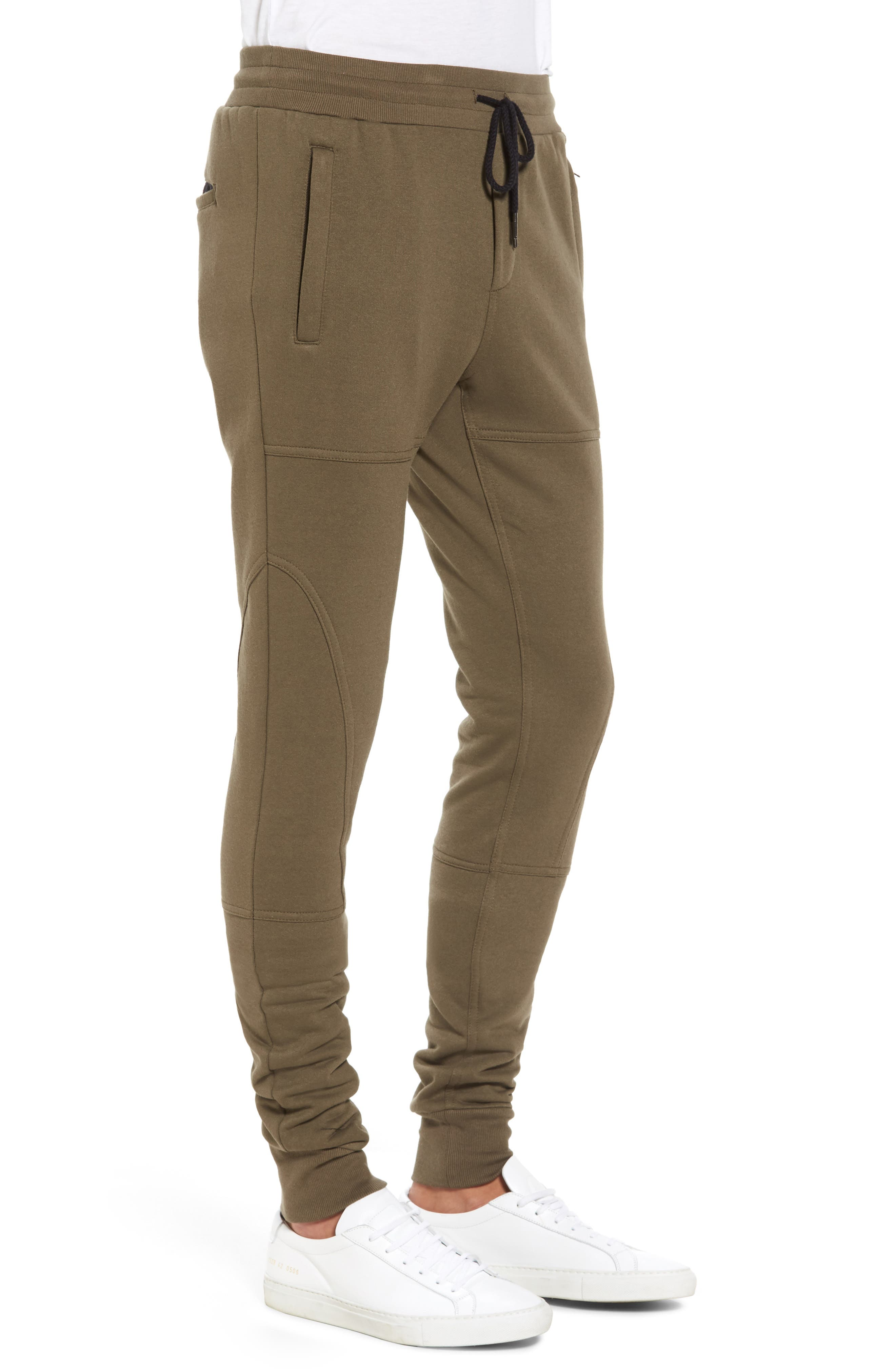 French Terry Sweatpants,                             Alternate thumbnail 3, color,                             Army