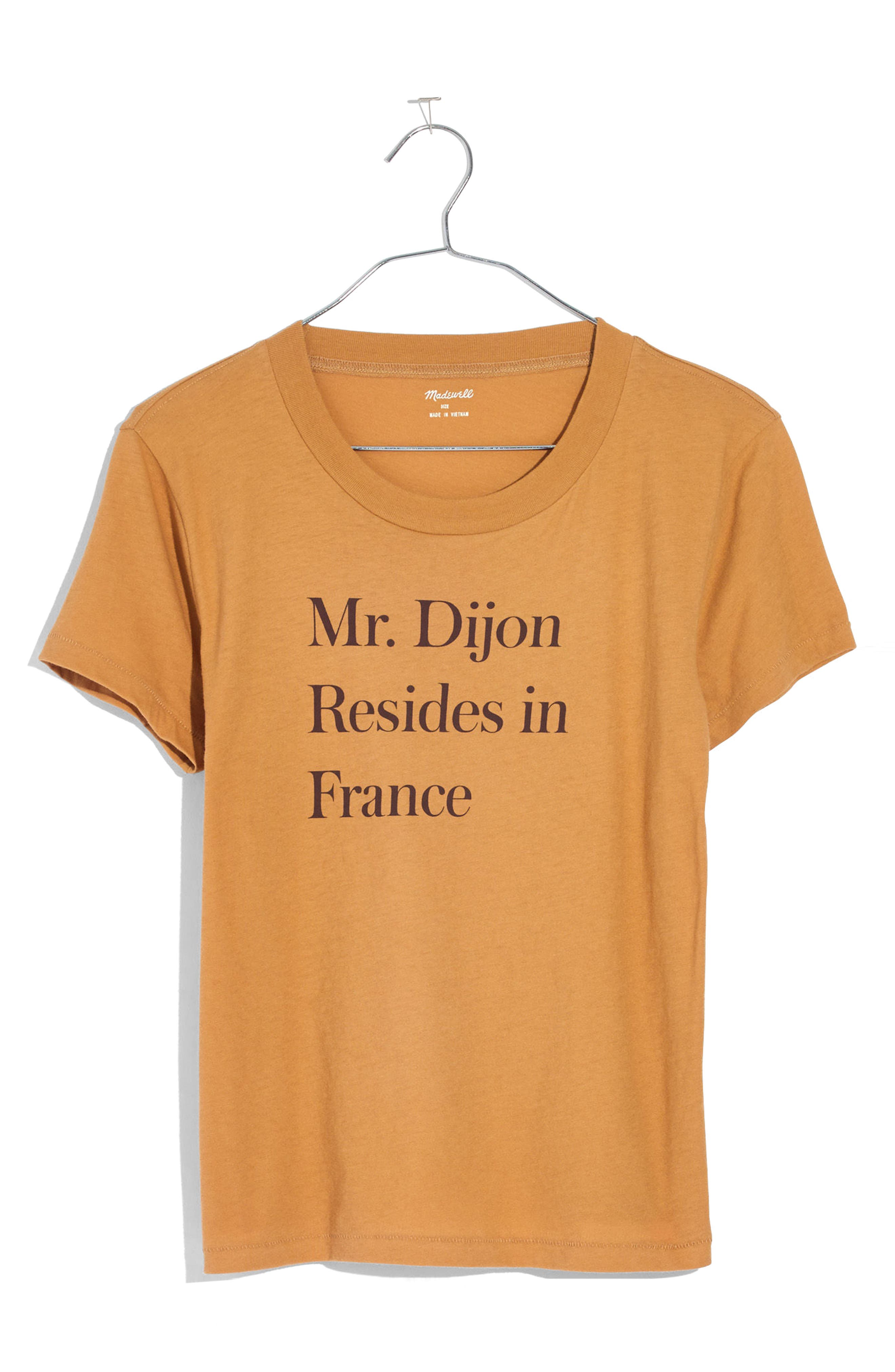 Mr. Dijon Graphic Tee,                         Main,                         color, Vintage Gold