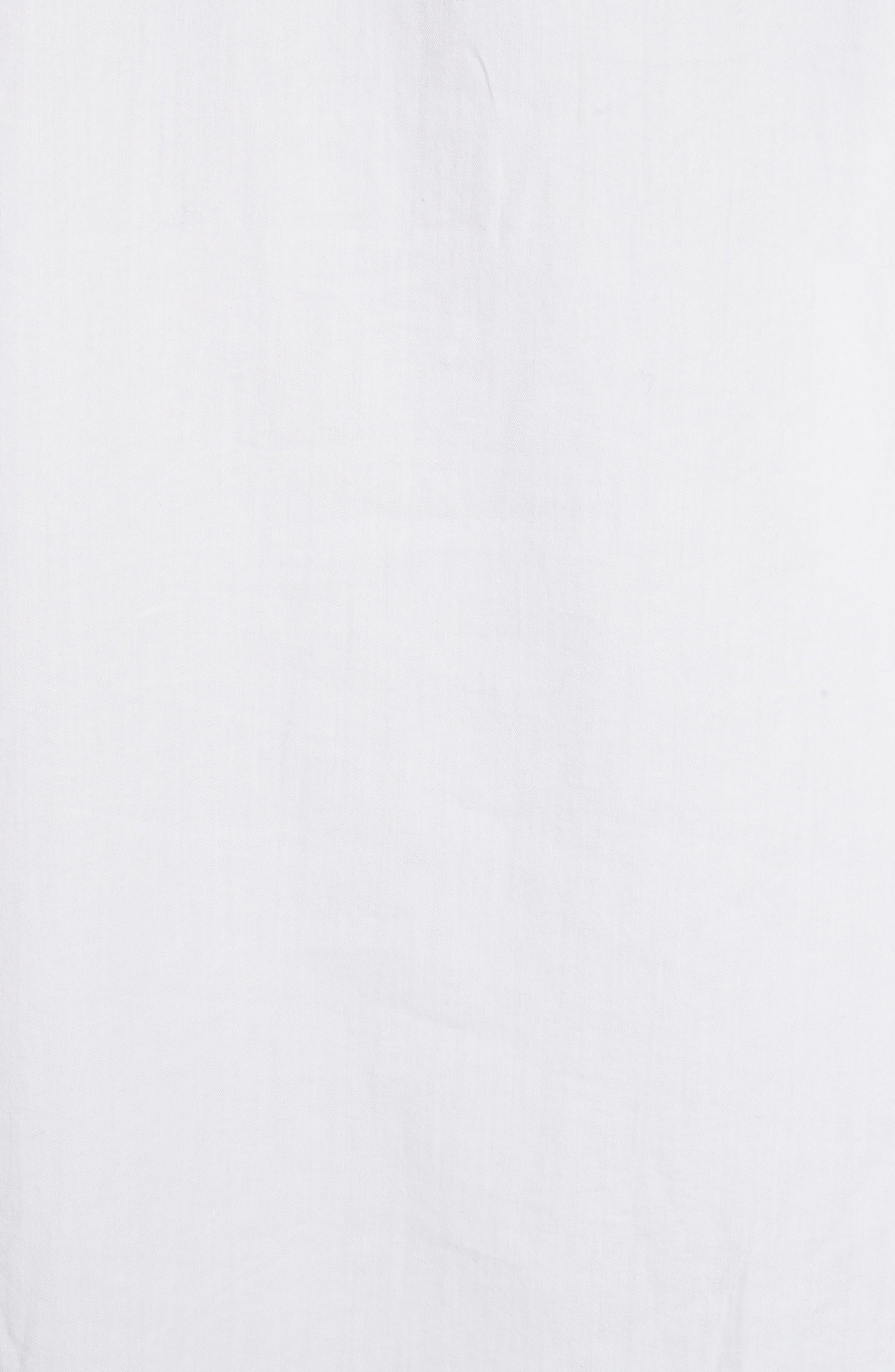 Oversize Raw Edge Blouse,                             Alternate thumbnail 5, color,                             White