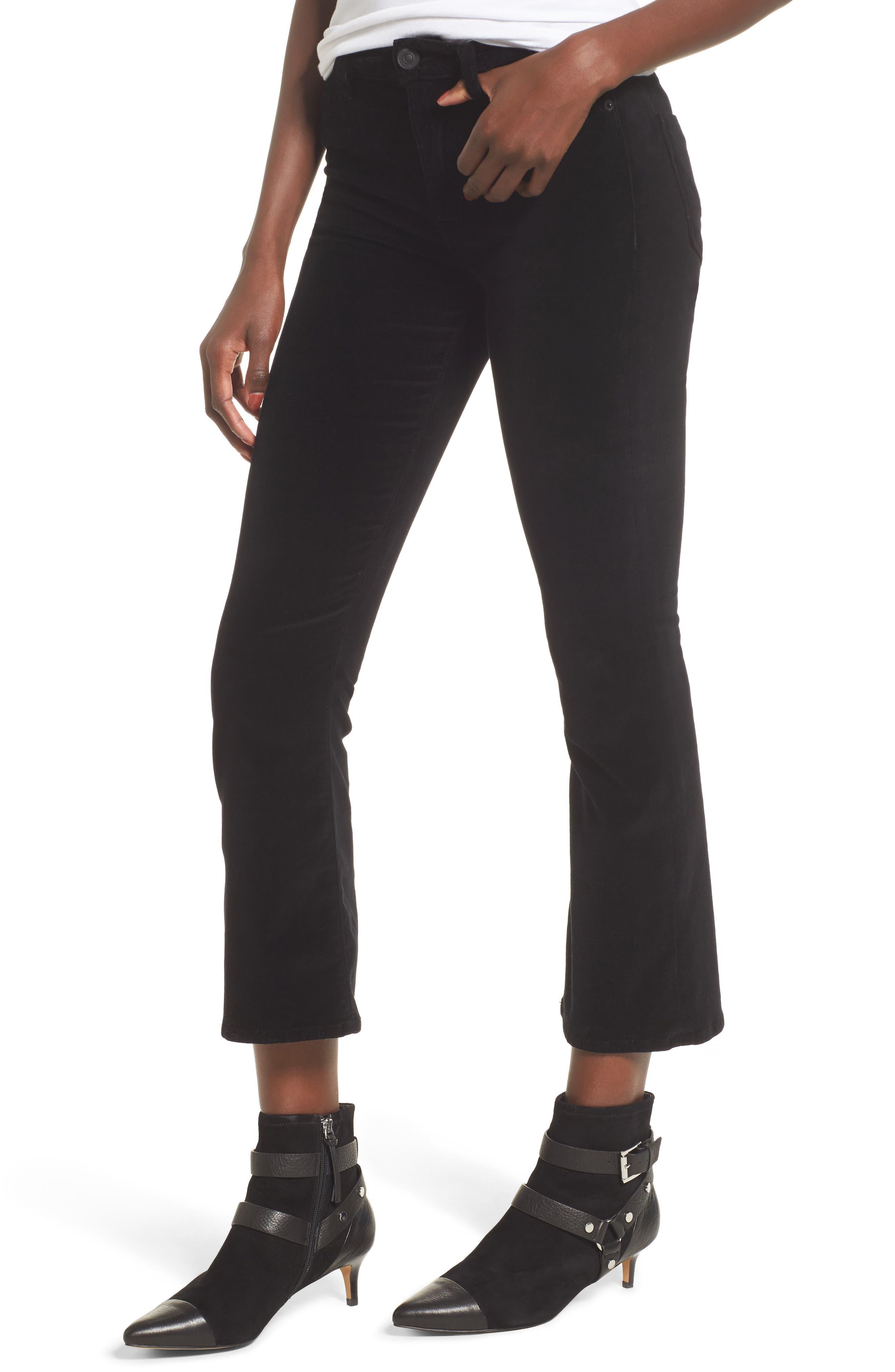 Alternate Image 1 Selected - Hudson Jeans Brix Velvet High Waist Crop Bootcut Pants