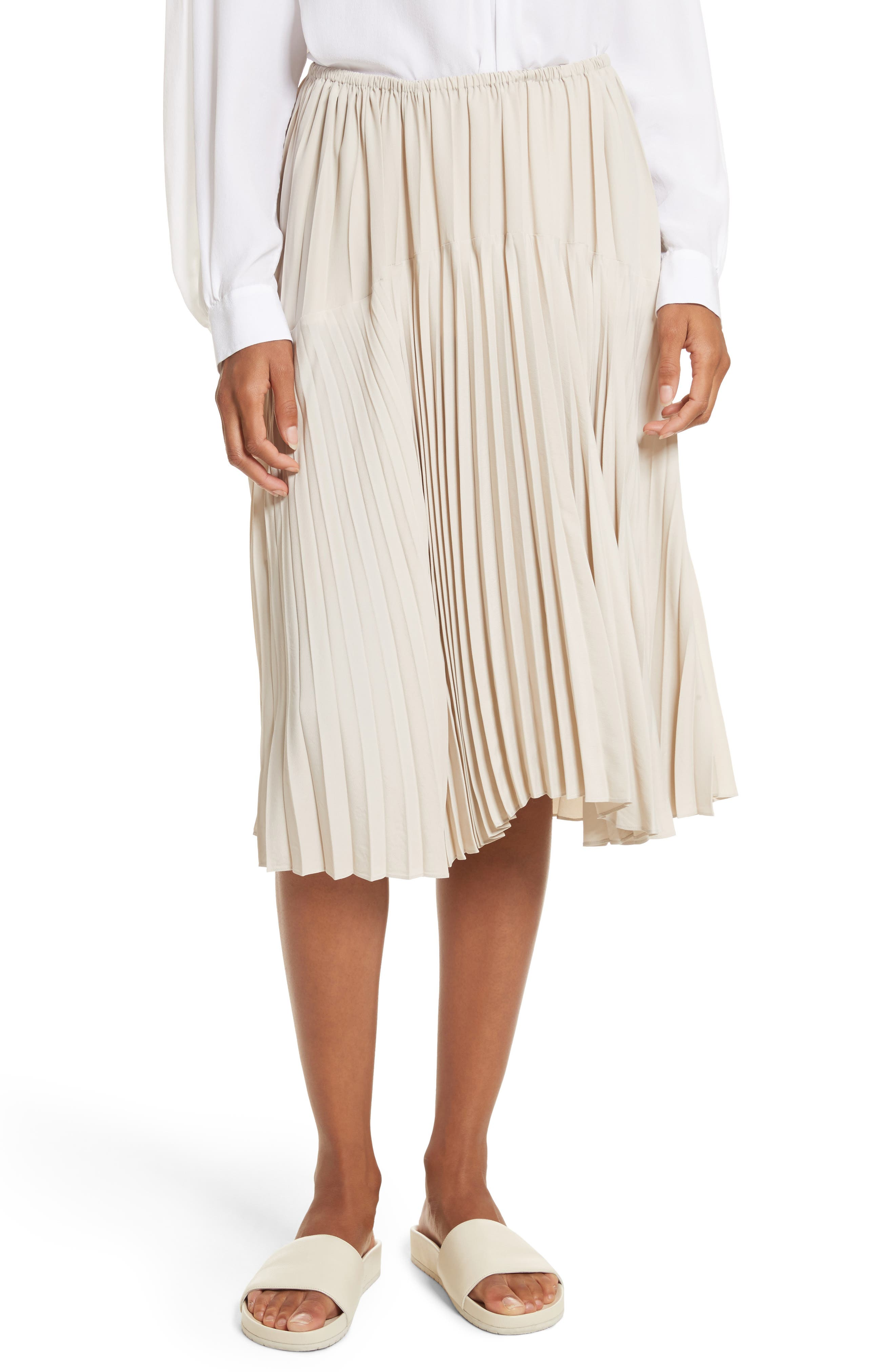 Pleated Skirt,                         Main,                         color, Chalet