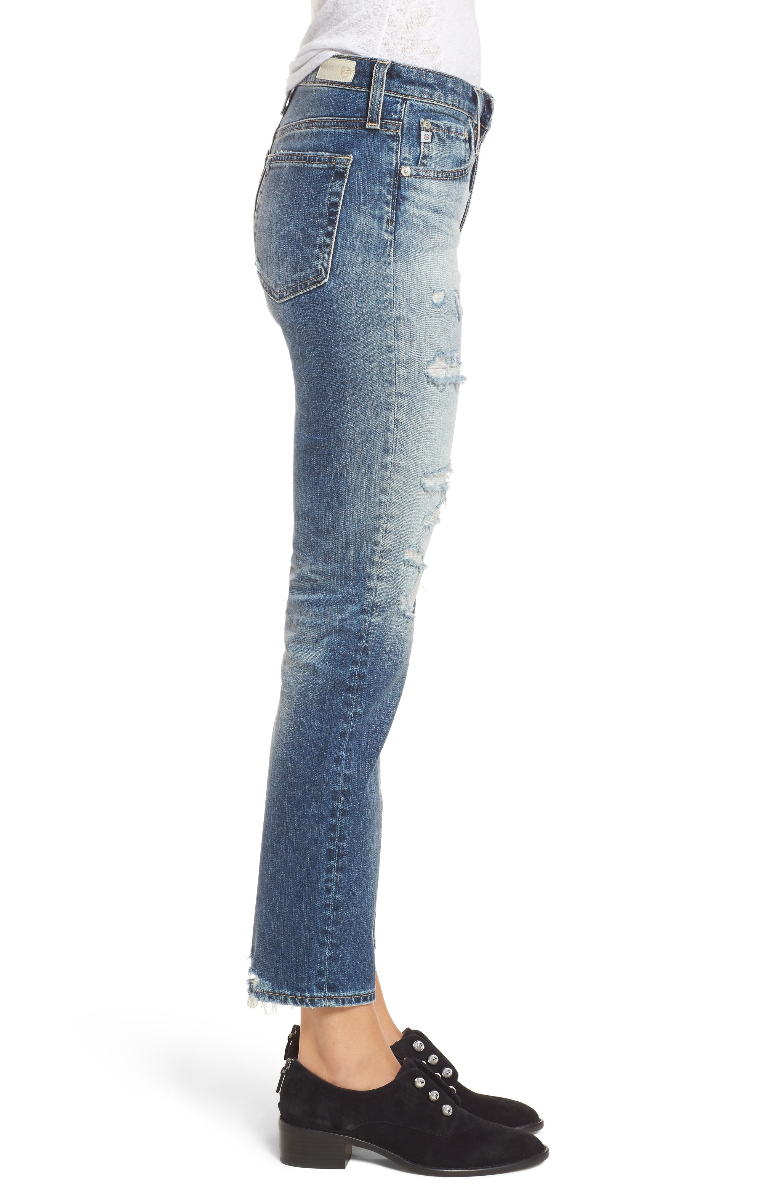The Isabelle High Waist Crop Straight Leg Jeans,                             Alternate thumbnail 4, color,                             17 Years Free Spirit