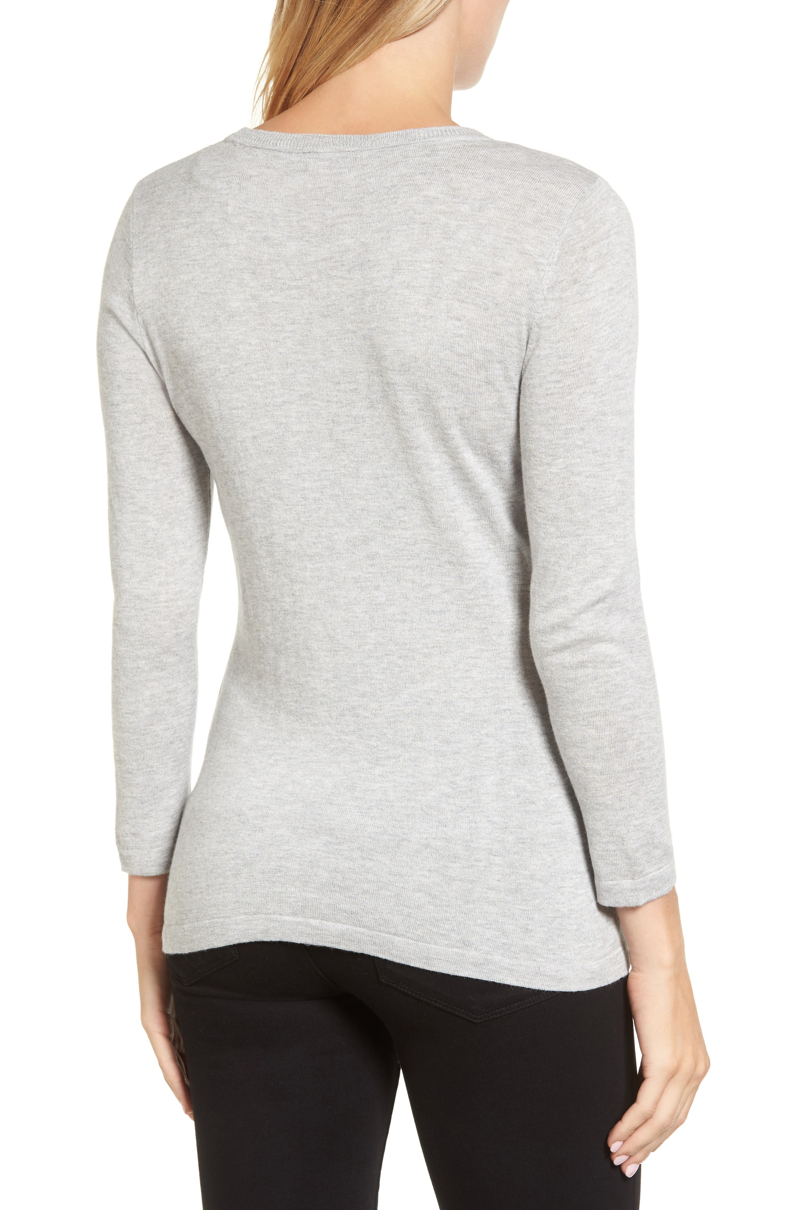 Zigzag Sweater,                             Alternate thumbnail 2, color,                             Grey Heather