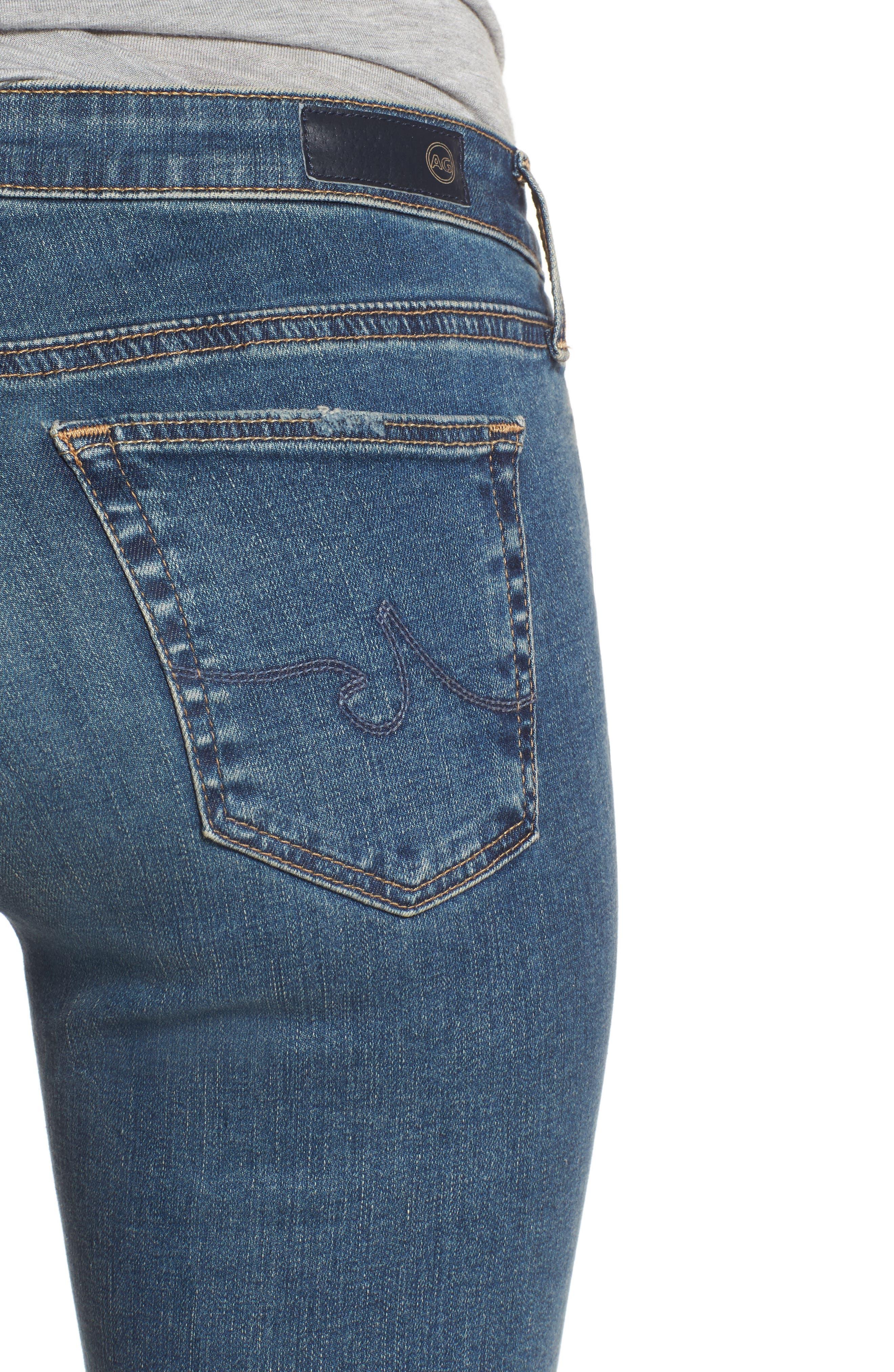 The Legging Ankle Super Skinny Jeans,                             Alternate thumbnail 4, color,                             Serendipitous Destructed