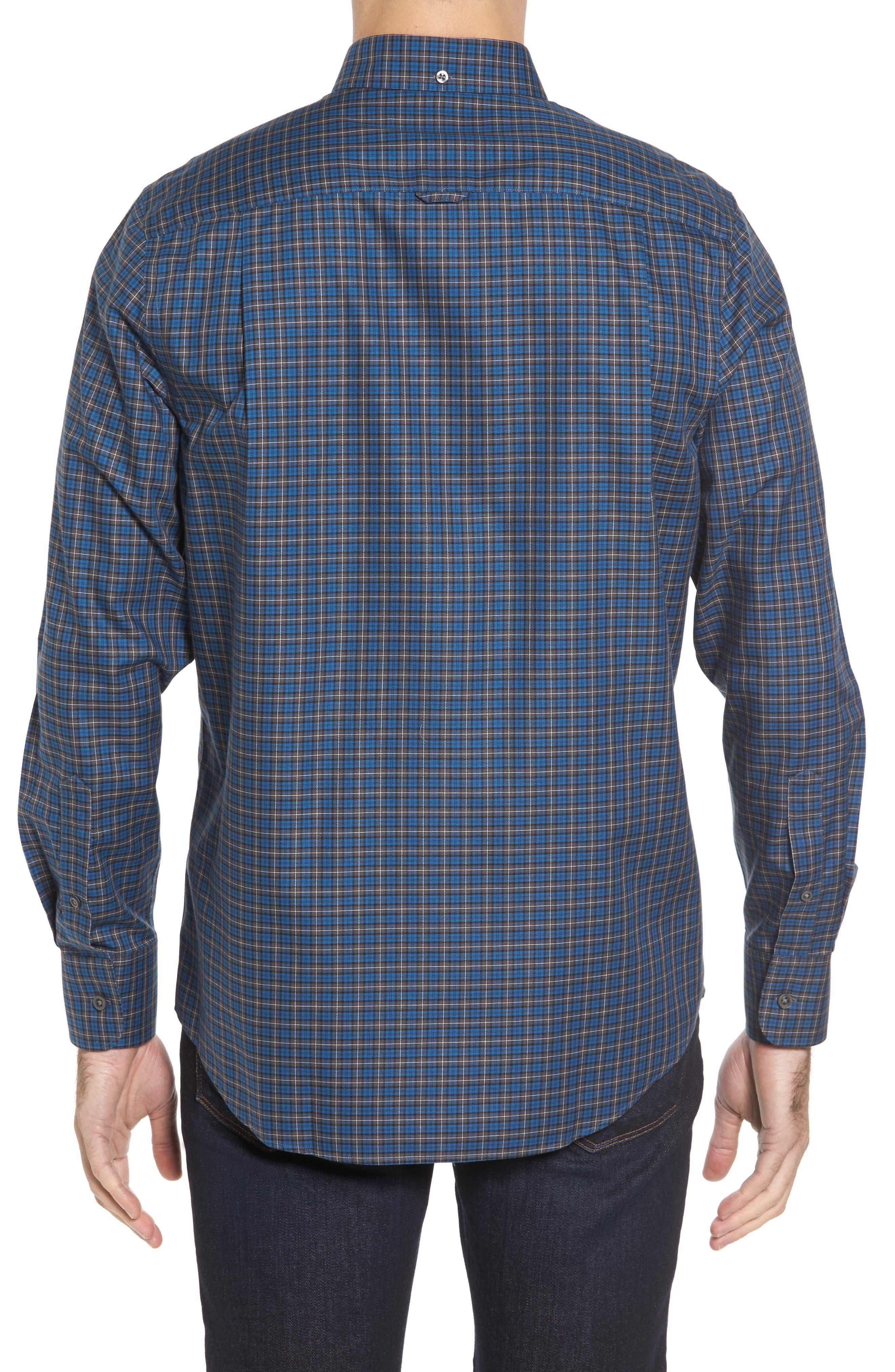 Alternate Image 2  - Nordstrom Men's Shop Smartcare™ Regular Fit Plaid Sport Shirt