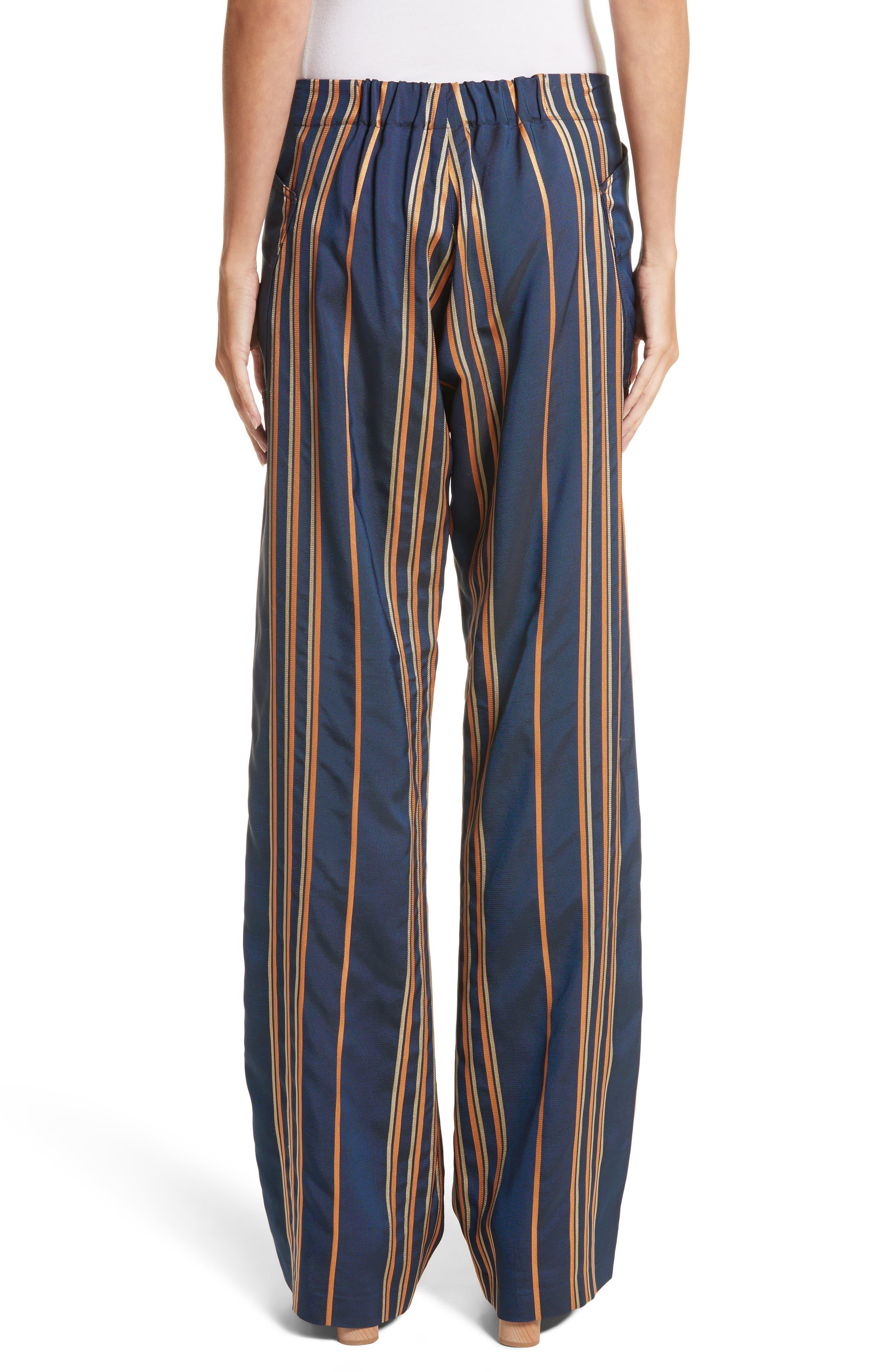 Stripe Pants,                             Alternate thumbnail 3, color,                             Mykonos/Papaya