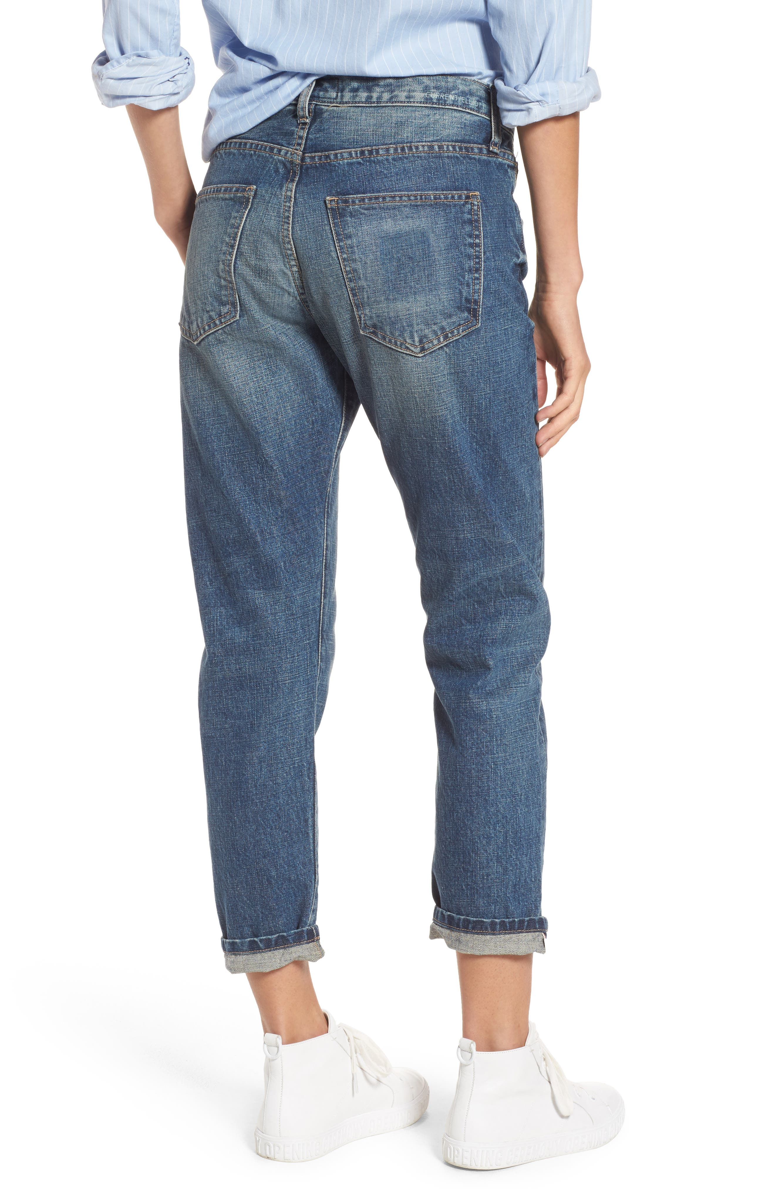 Alternate Image 2  - Current/Elliott The Selvedge High Waist Crop Jeans (Hemet)
