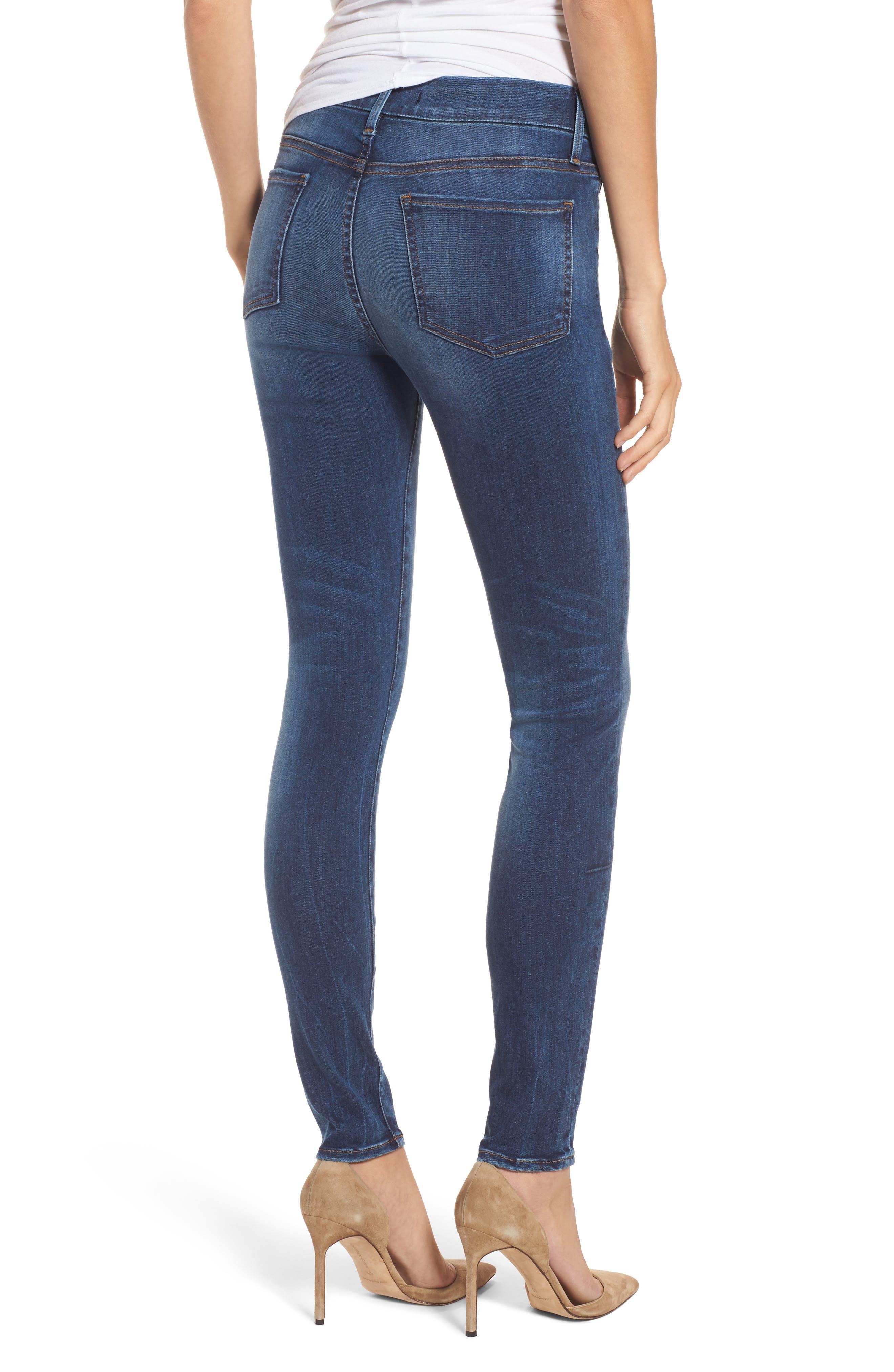 Alternate Image 2  - Fidelity Denim Belvedere Skinny Jeans (Vintage Blue)