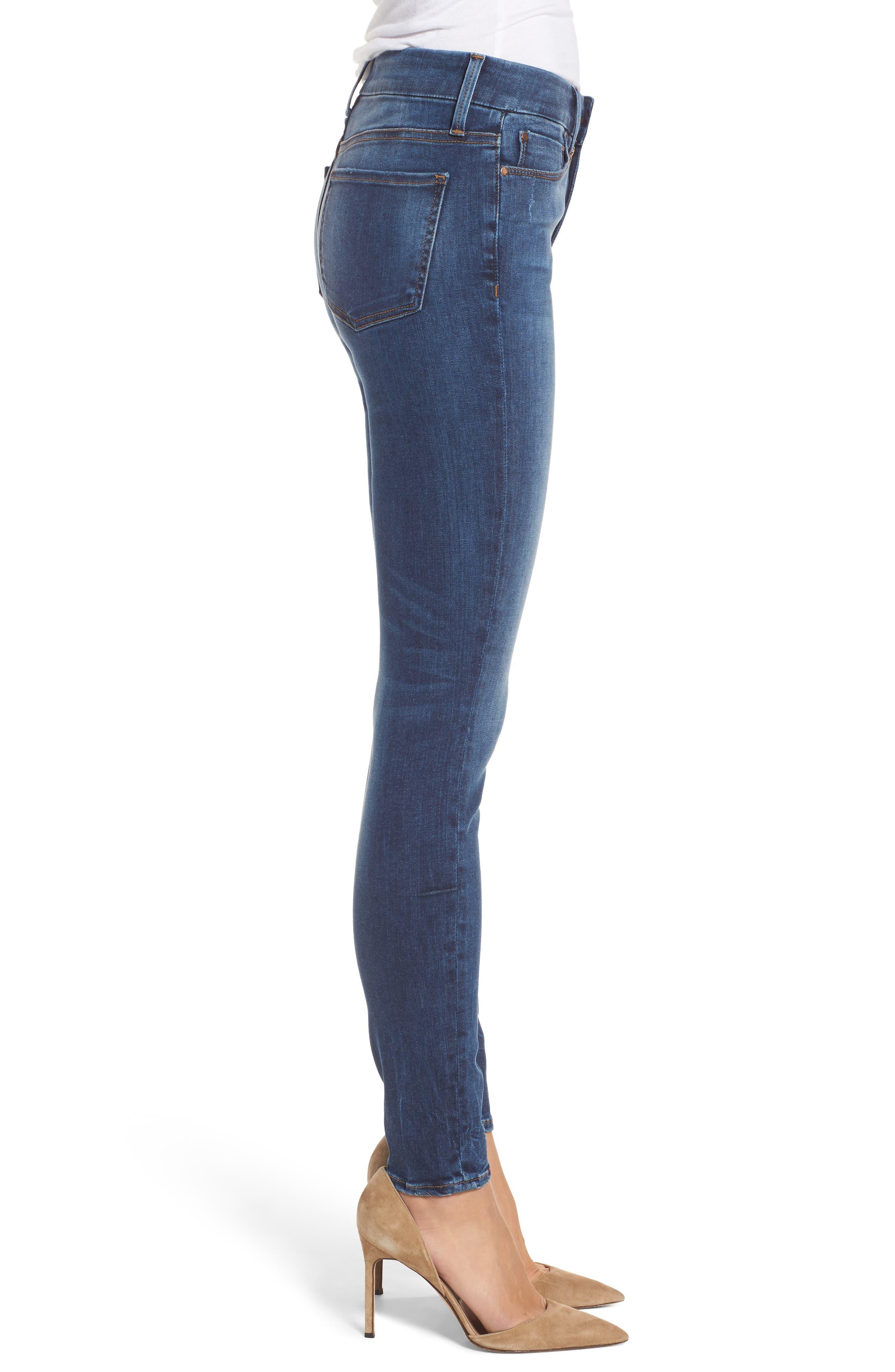Alternate Image 3  - Fidelity Denim Belvedere Skinny Jeans (Vintage Blue)