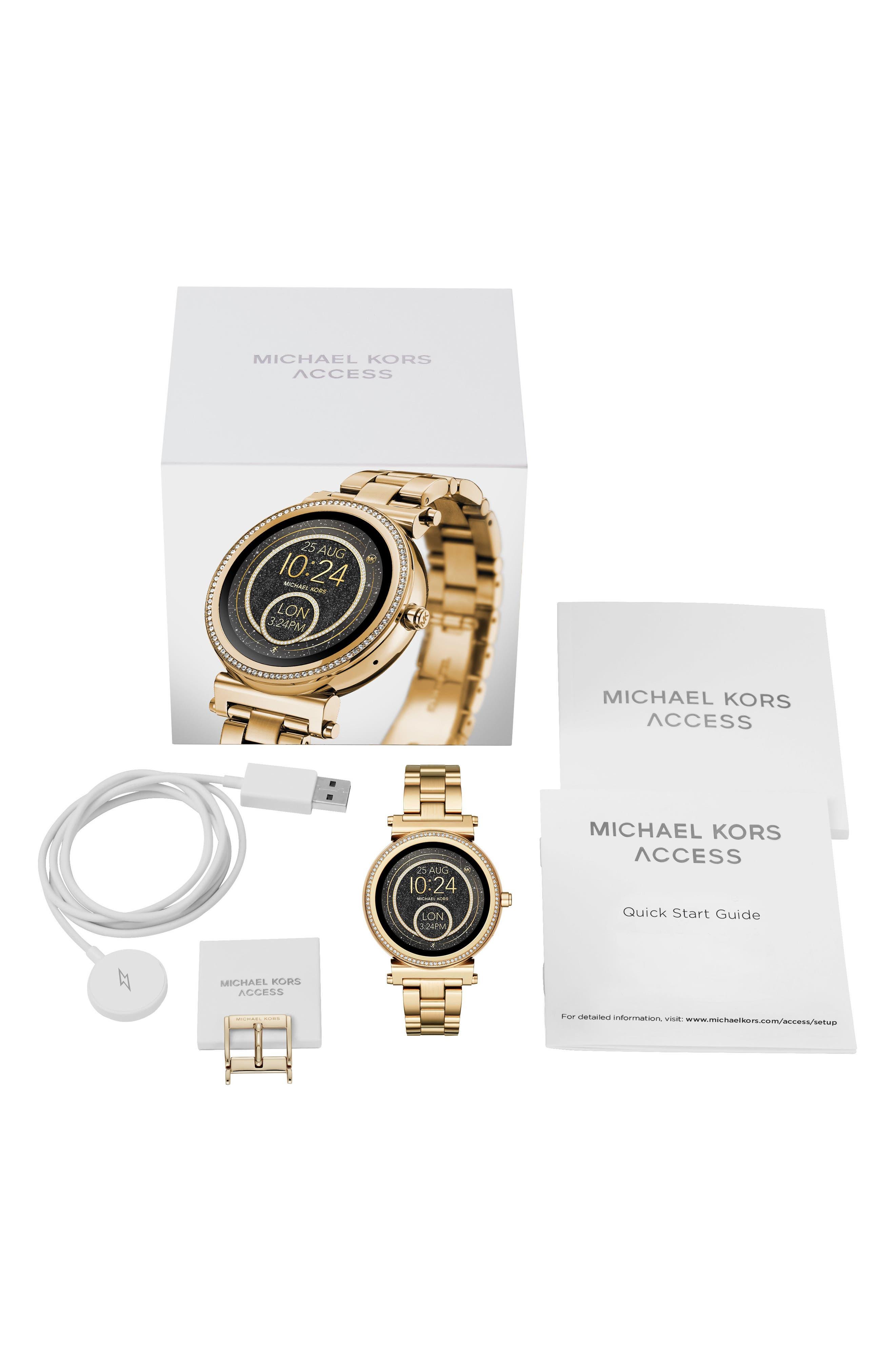Alternate Image 5  - Michael Kors Access Sofie Smart Bracelet Watch, 42mm