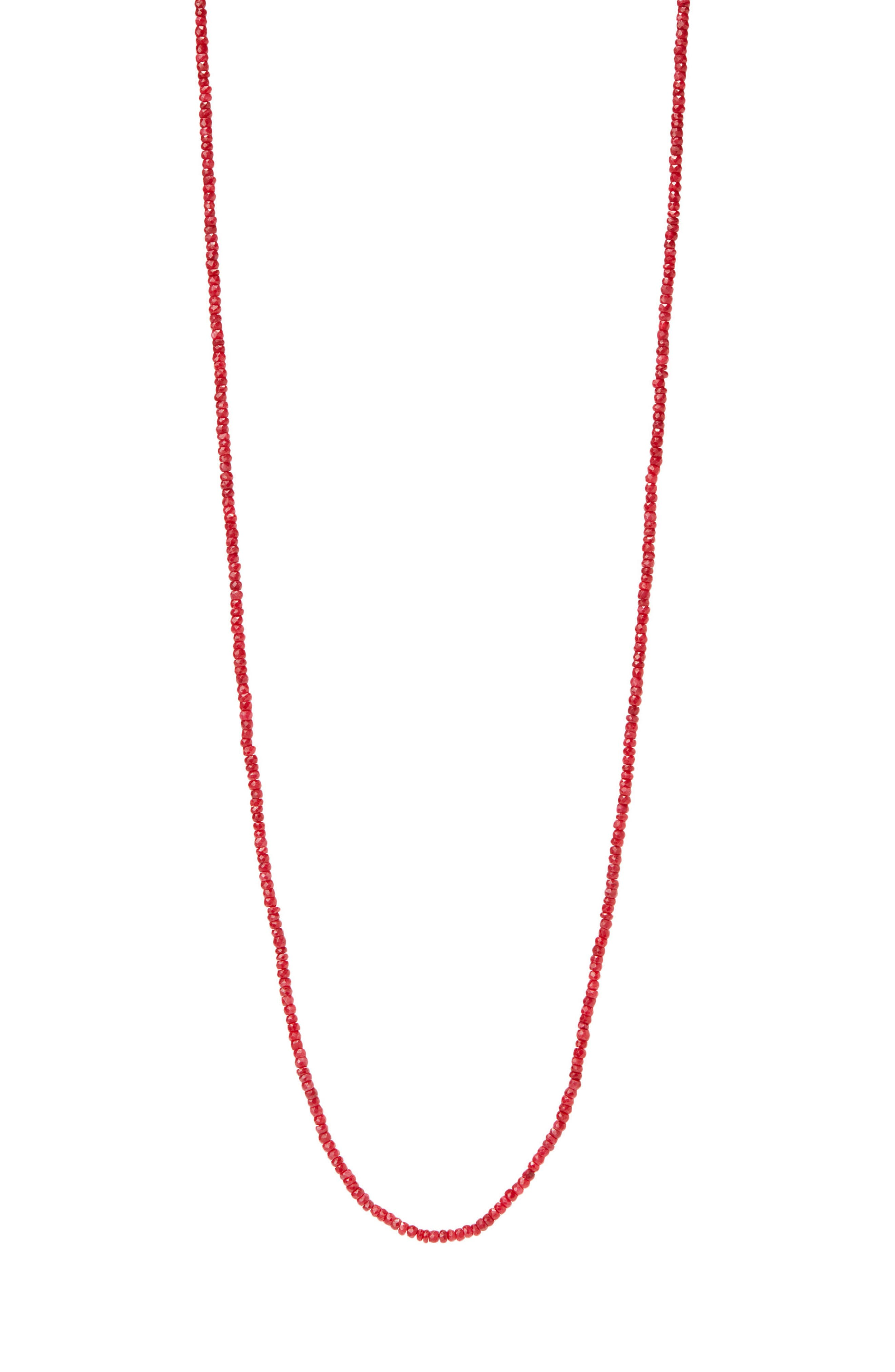 Topanga Gemstone Necklace,                         Main,                         color, Ruby