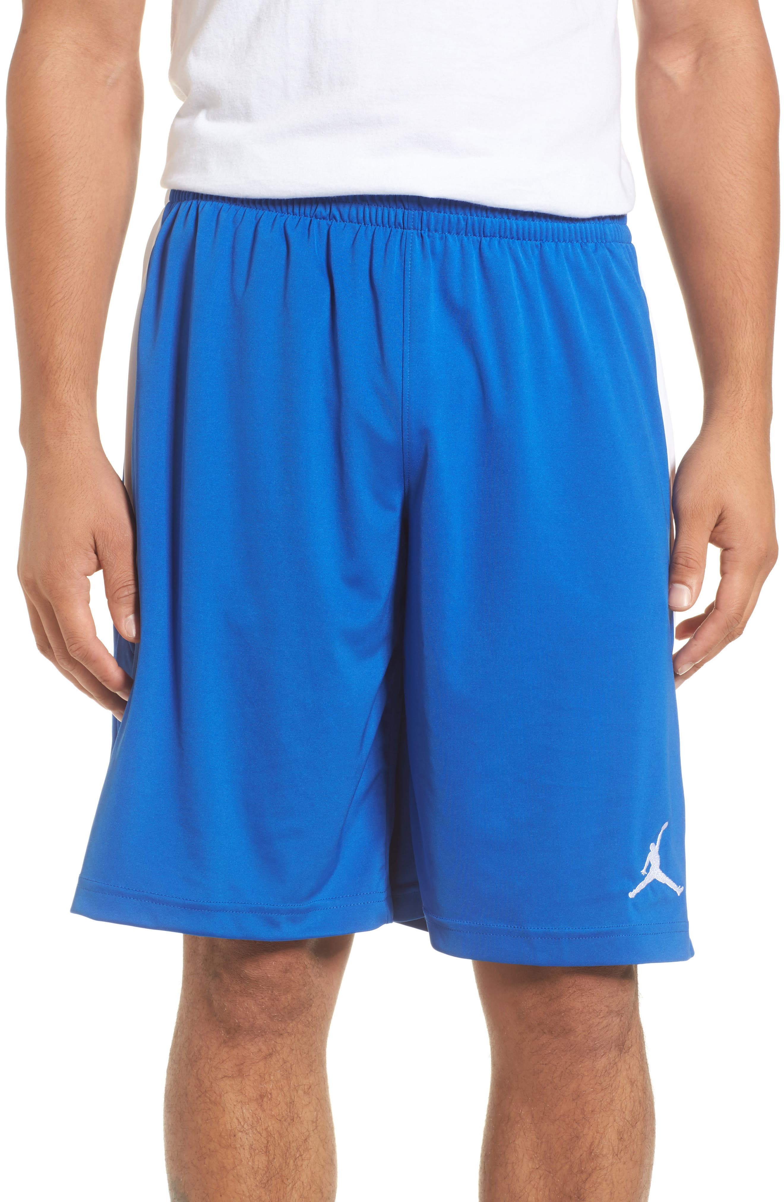 23 Alpha Dry Knit Shorts,                         Main,                         color, Game Royal/ White
