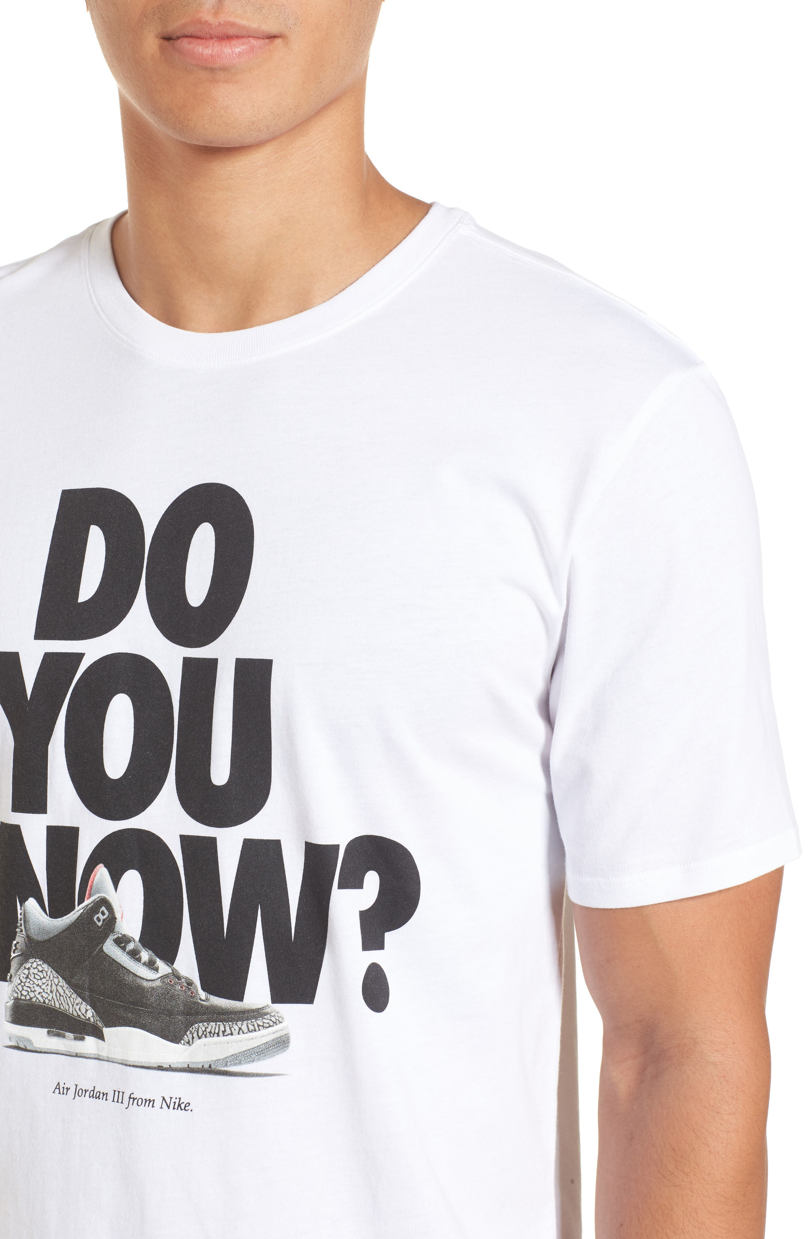 Do You Know Graphic T-Shirt,                             Alternate thumbnail 4, color,                             White/ Black