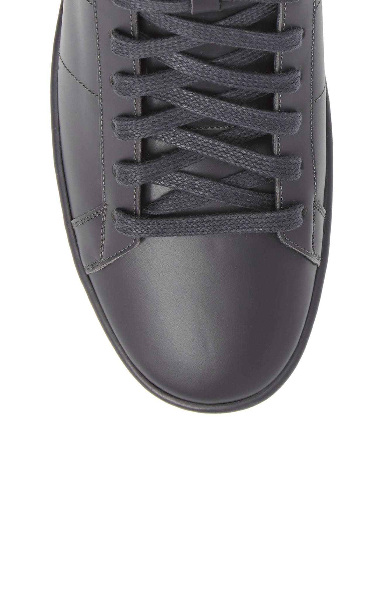 Signature Court Classic Sneaker,                             Alternate thumbnail 5, color,                             Grey Leather