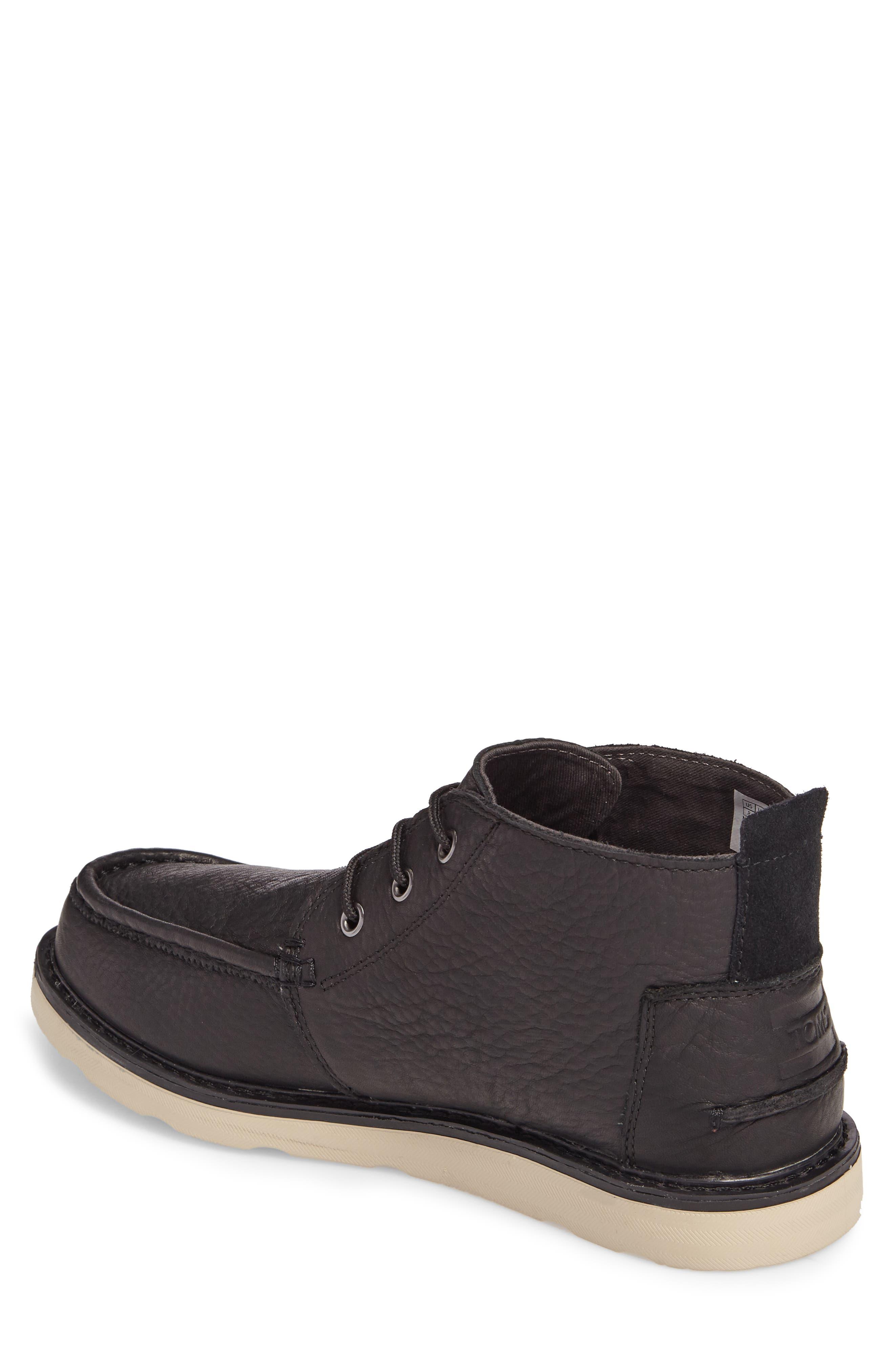 Chukka Boot,                             Alternate thumbnail 2, color,                             Black/Black Leather