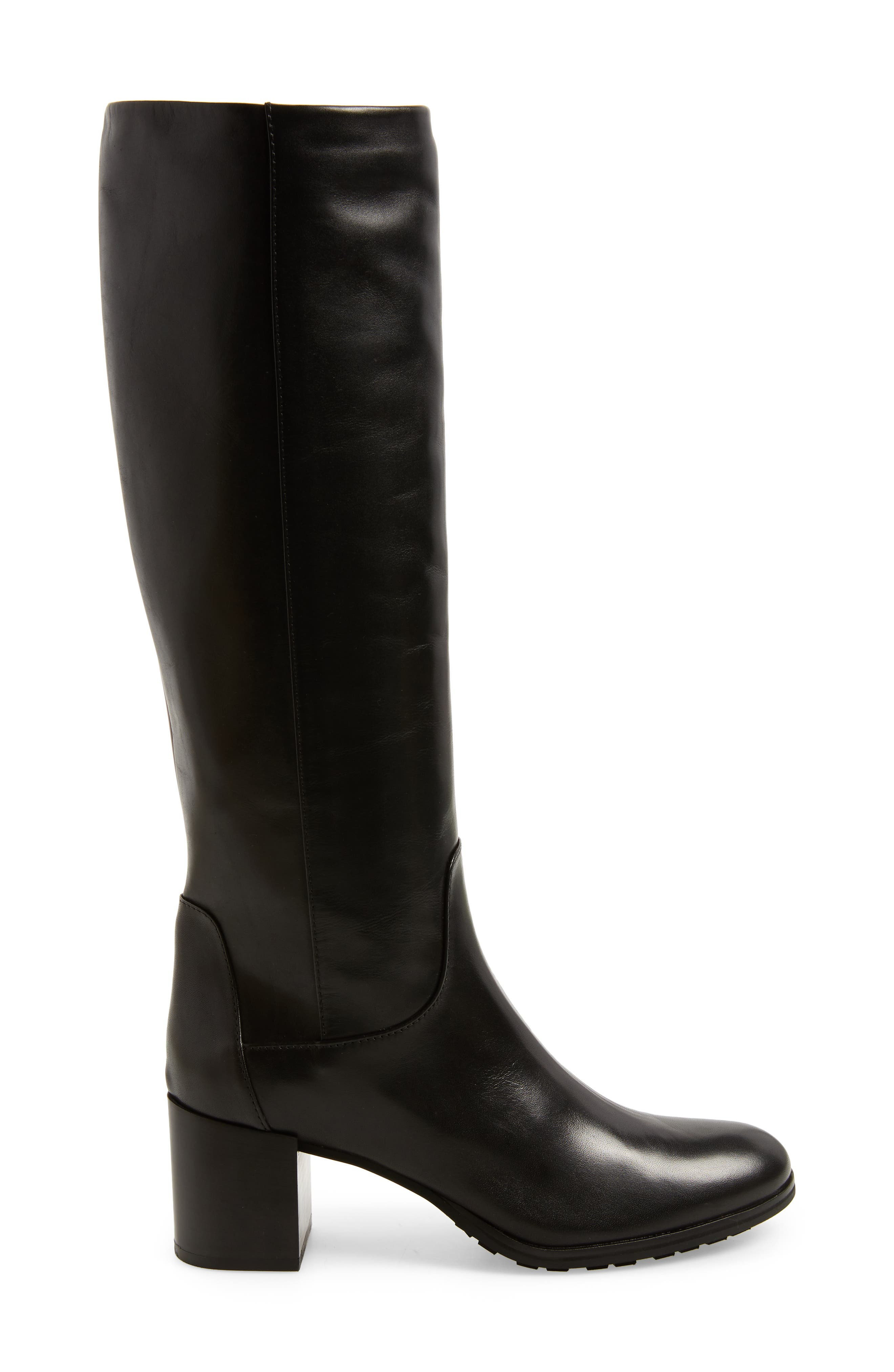 Evelin Weatherproof Knee High Boot,                             Alternate thumbnail 3, color,                             Black Calf