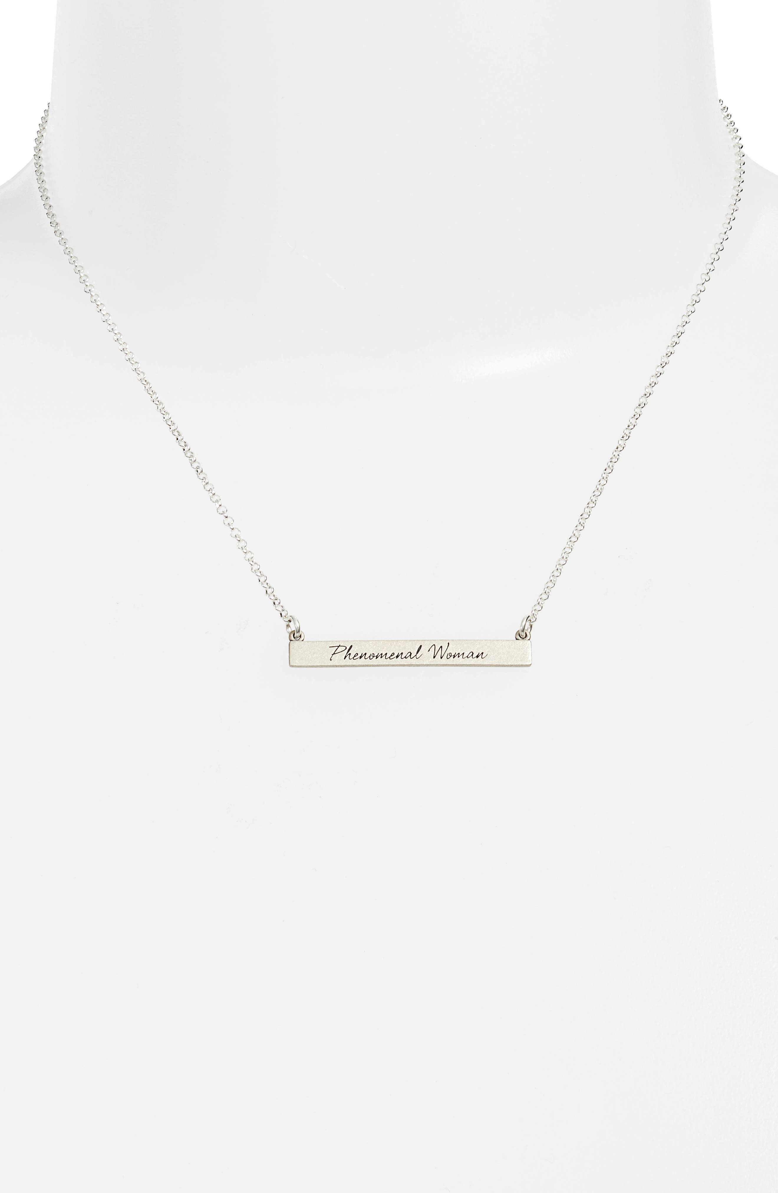 Alternate Image 2  - Dogeared Legacy Collection - Phenomenal Women Bar Necklace