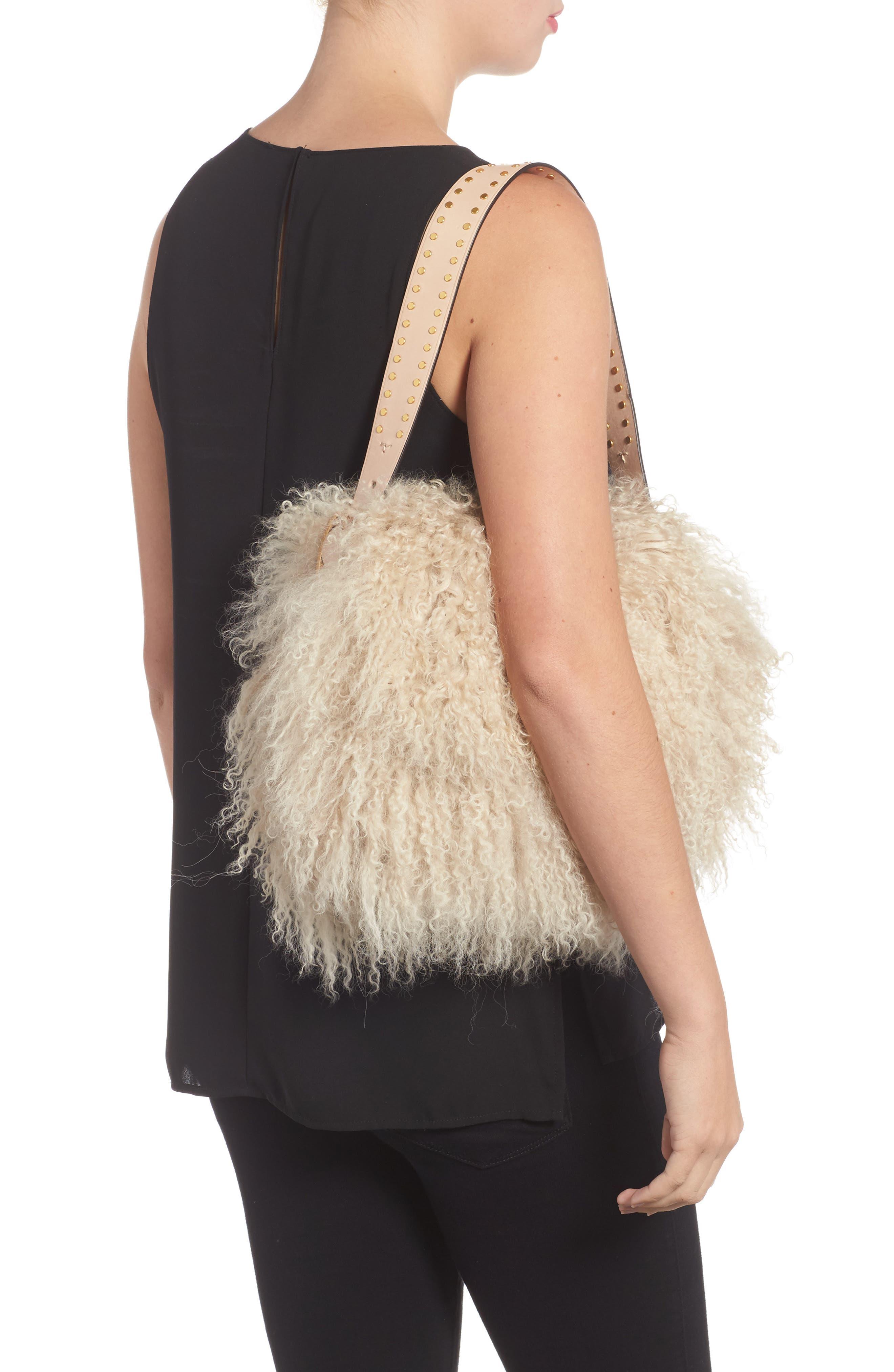 Alternate Image 6  - Tory Burch Sawyer Genuine Shearling Shoulder Bag
