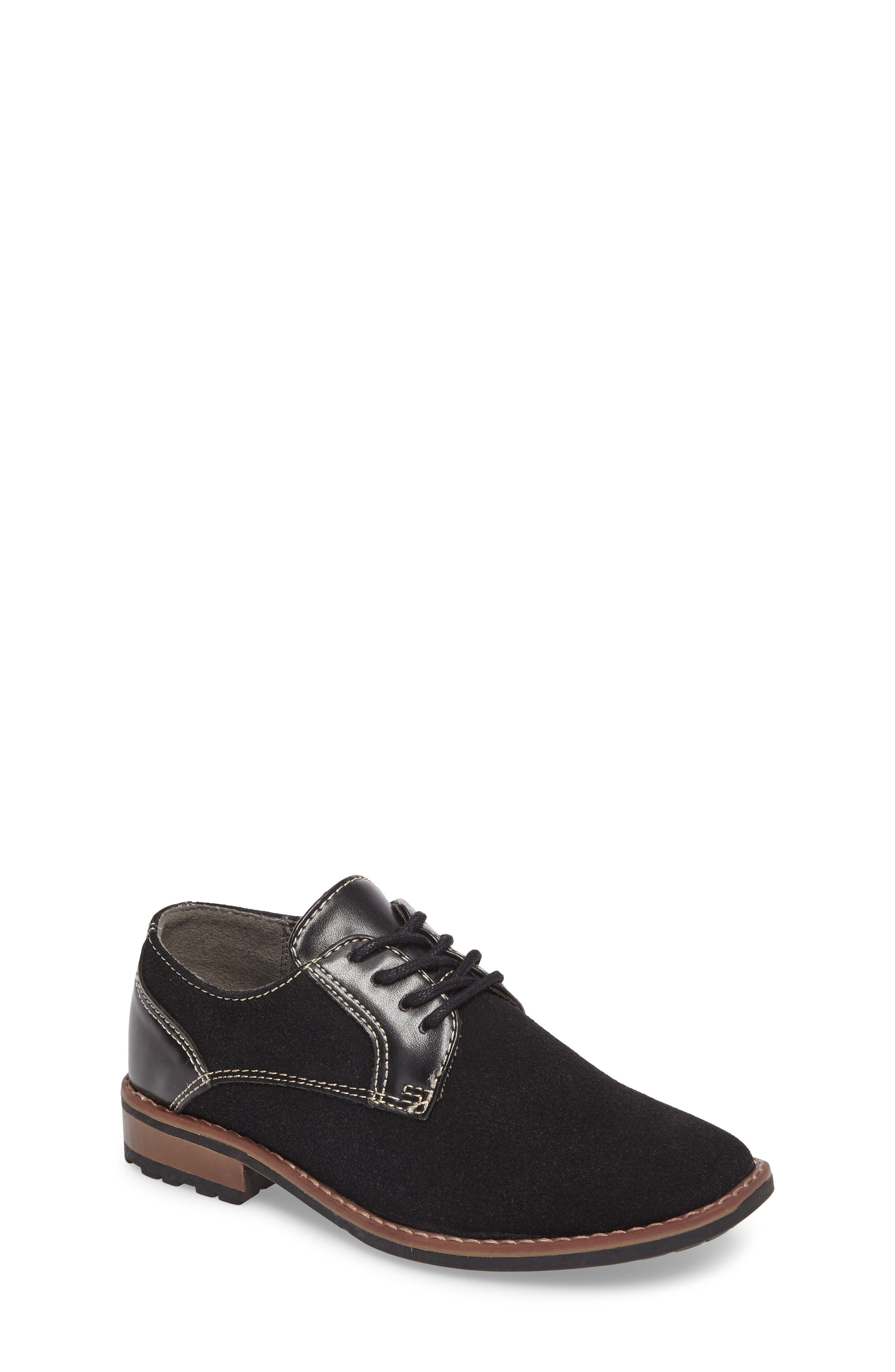 Main Image - Steve Madden Fold Plain Toe Derby (Little Kid & Big Kid)