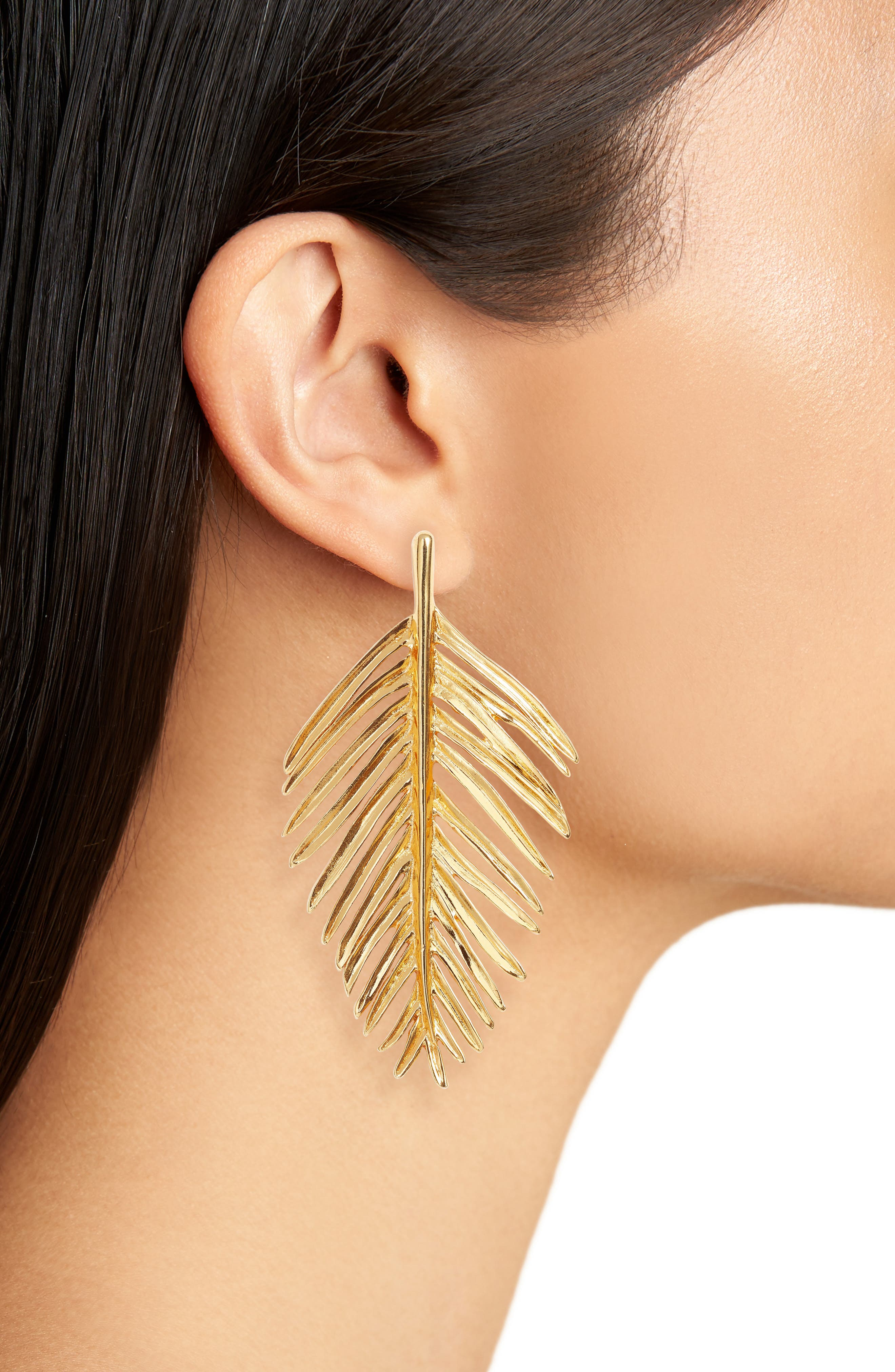 Alternate Image 2  - Oscar de la Renta Leaf Drop Earrings