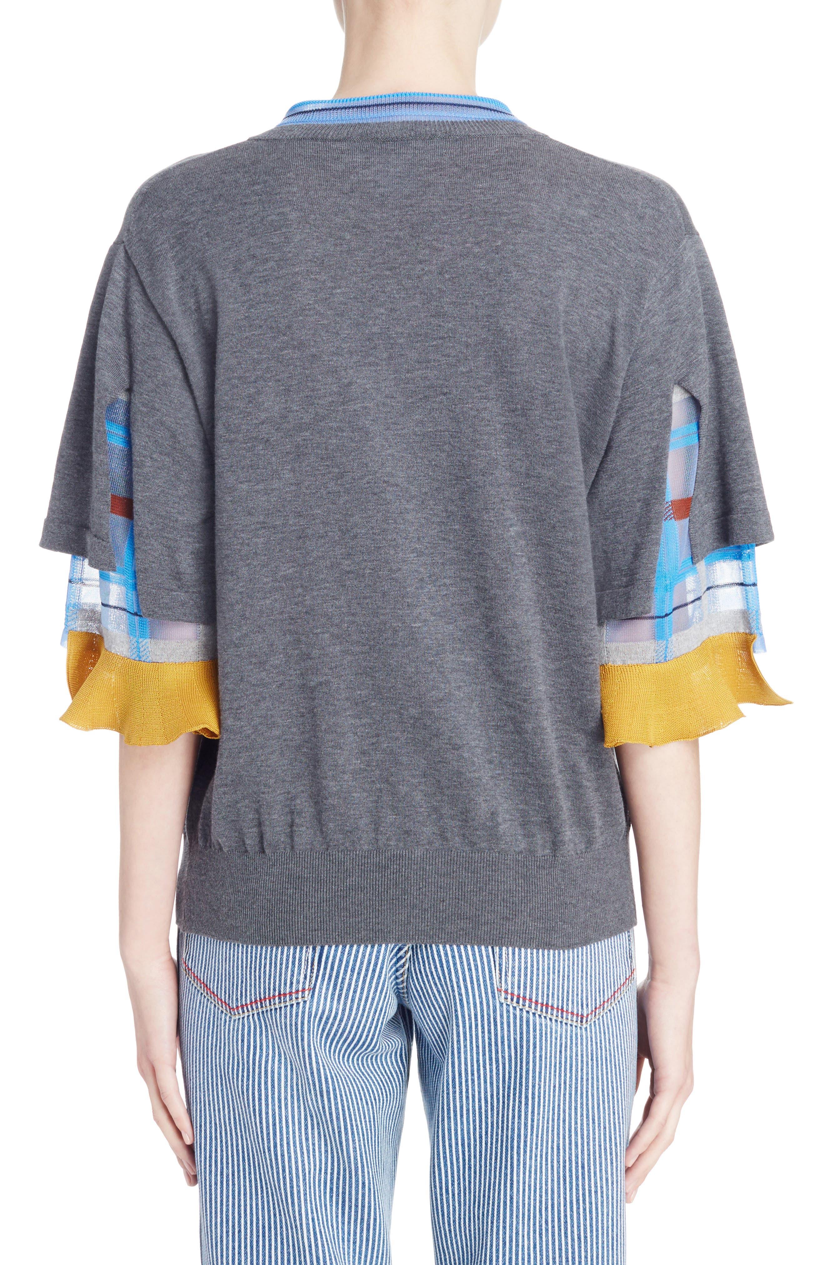 Alternate Image 2  - TOGA Check Tier Sleeve Sweater