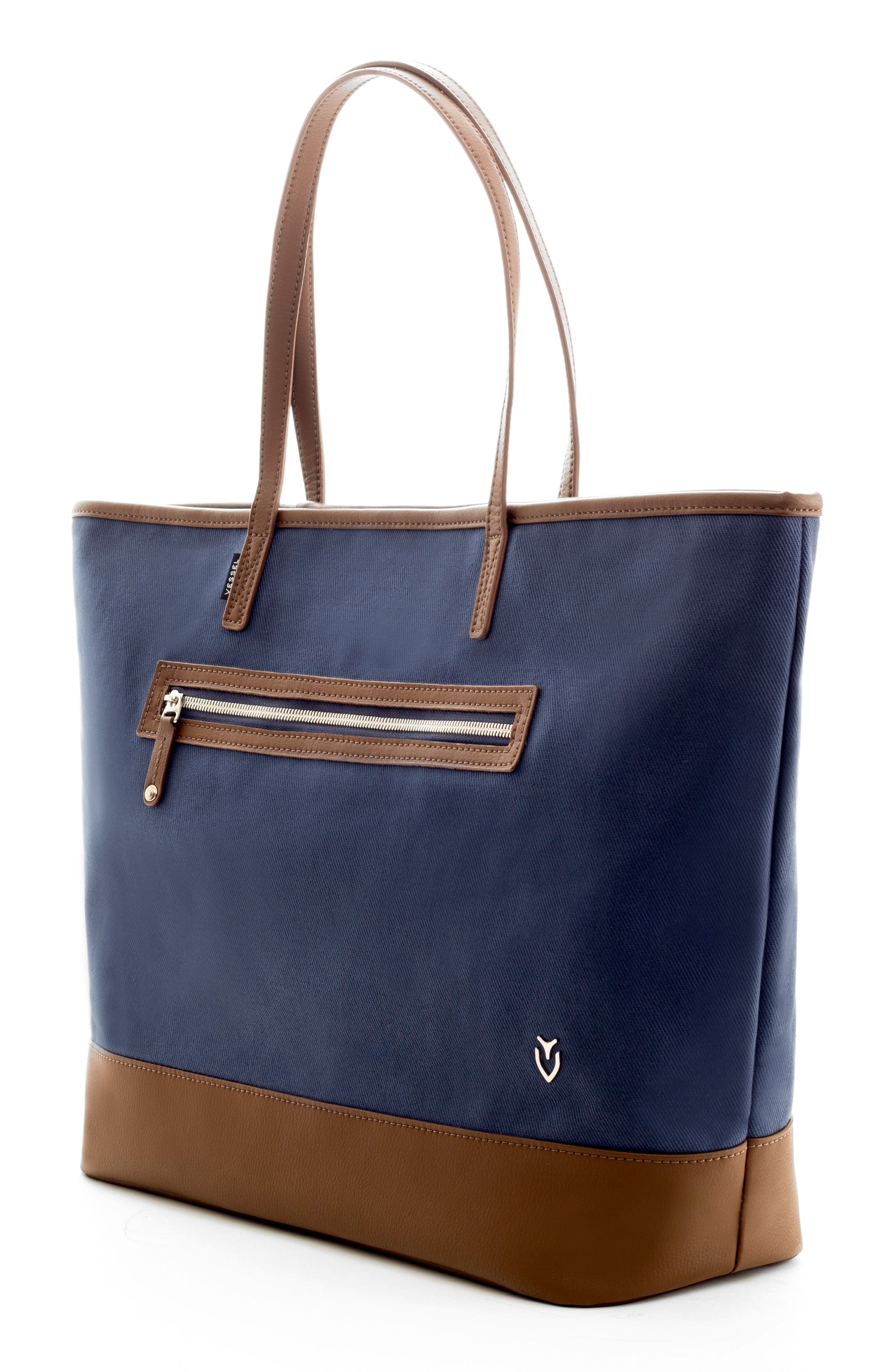 Refined Tote Bag,                             Alternate thumbnail 3, color,                             Navy