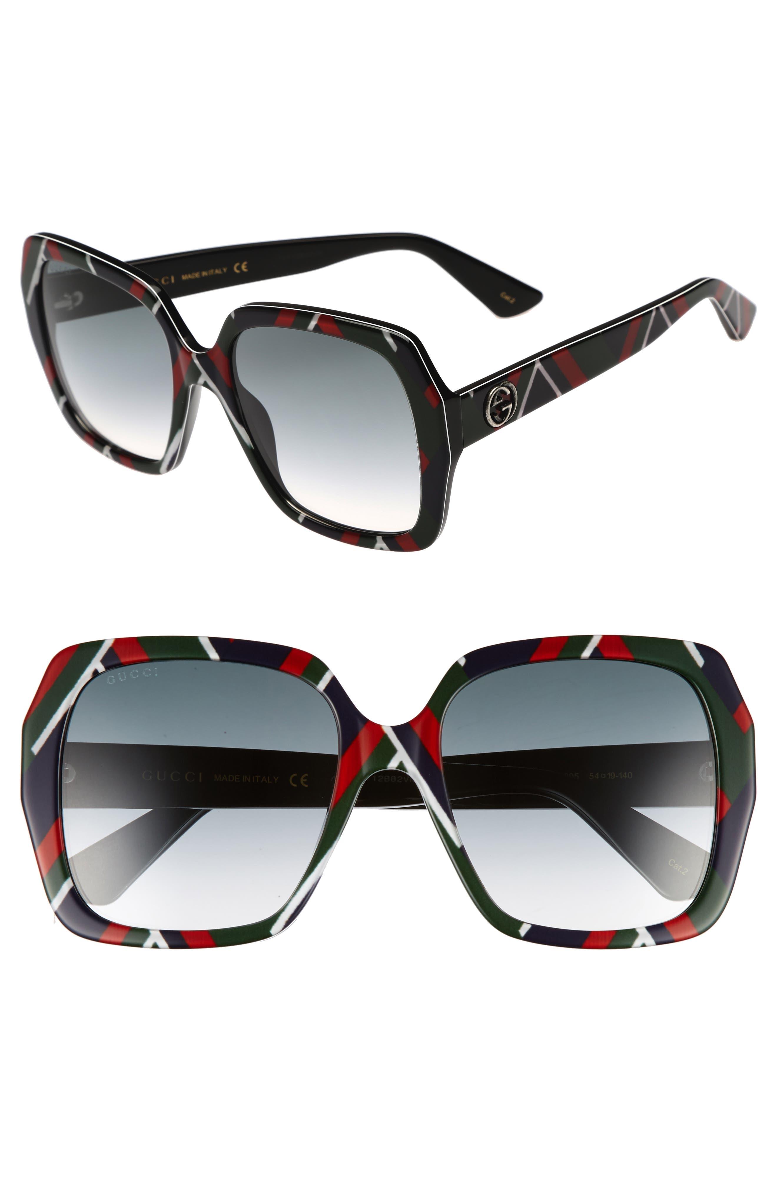 Alternate Image 1 Selected - Gucci 54mm Gradient Square Sunglasses