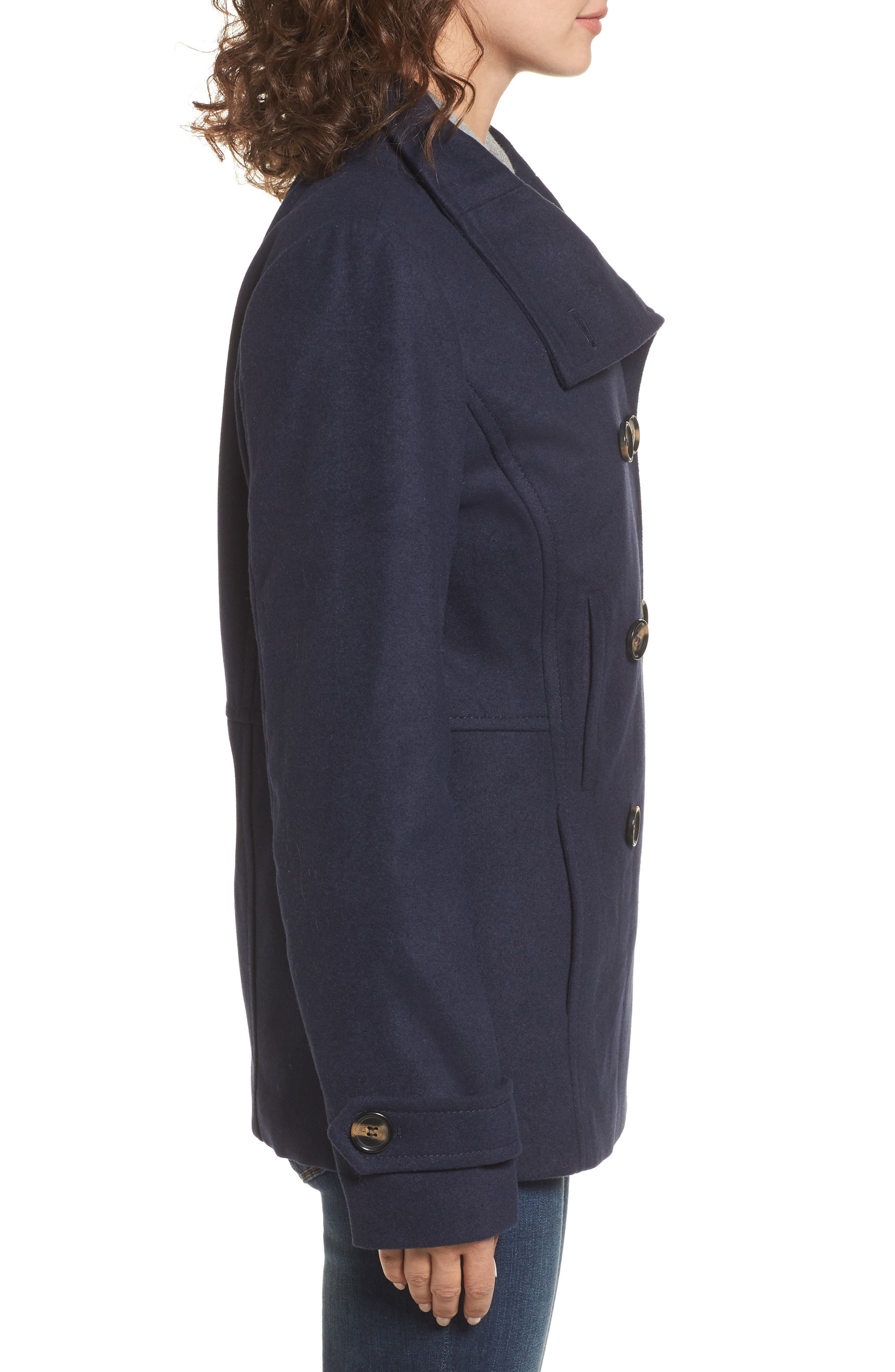 Alternate Image 4  - Thread & Supply Double Breasted Peacoat