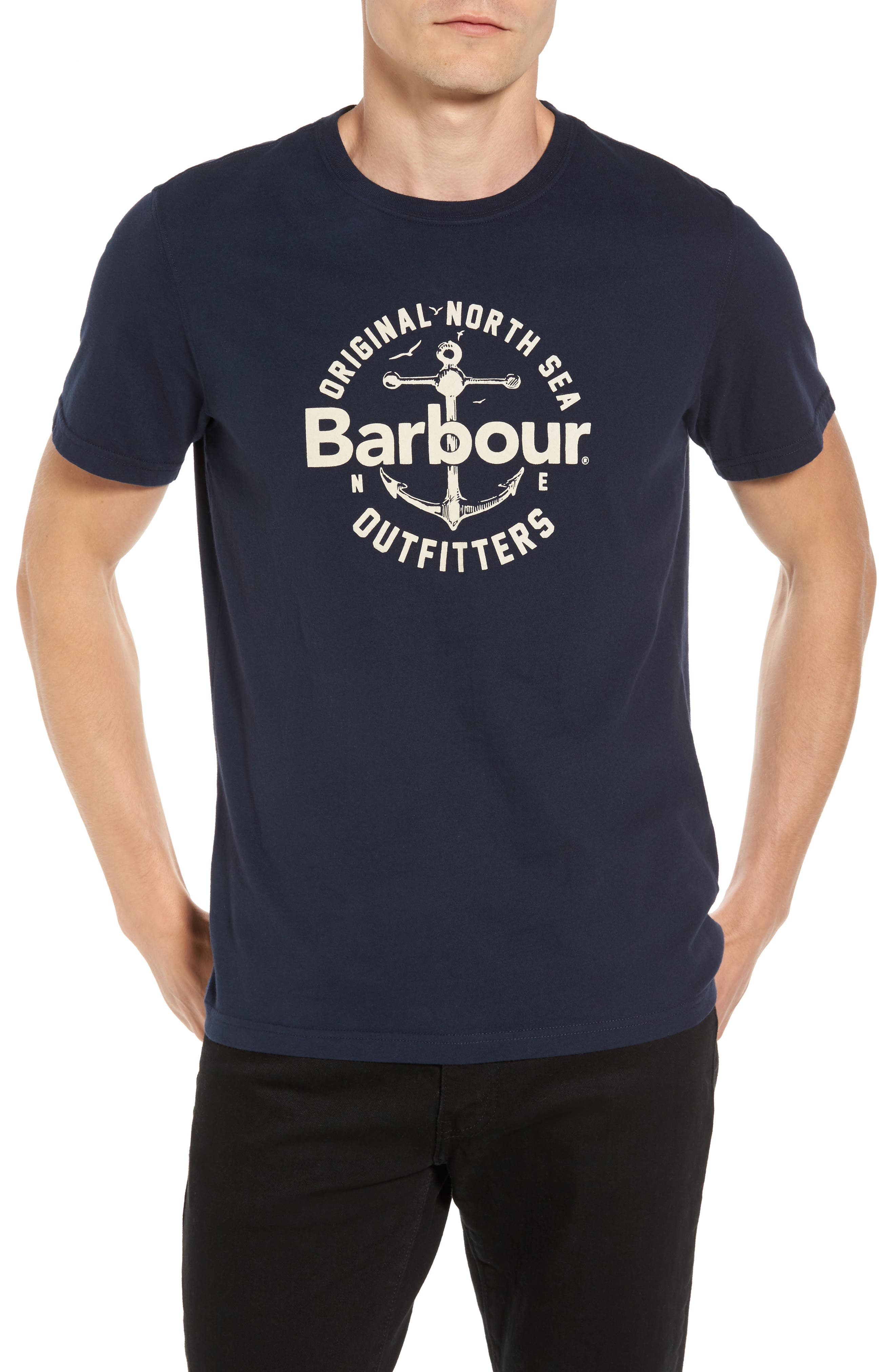 Berwick Logo Graphic T-Shirt,                             Main thumbnail 1, color,                             Navy