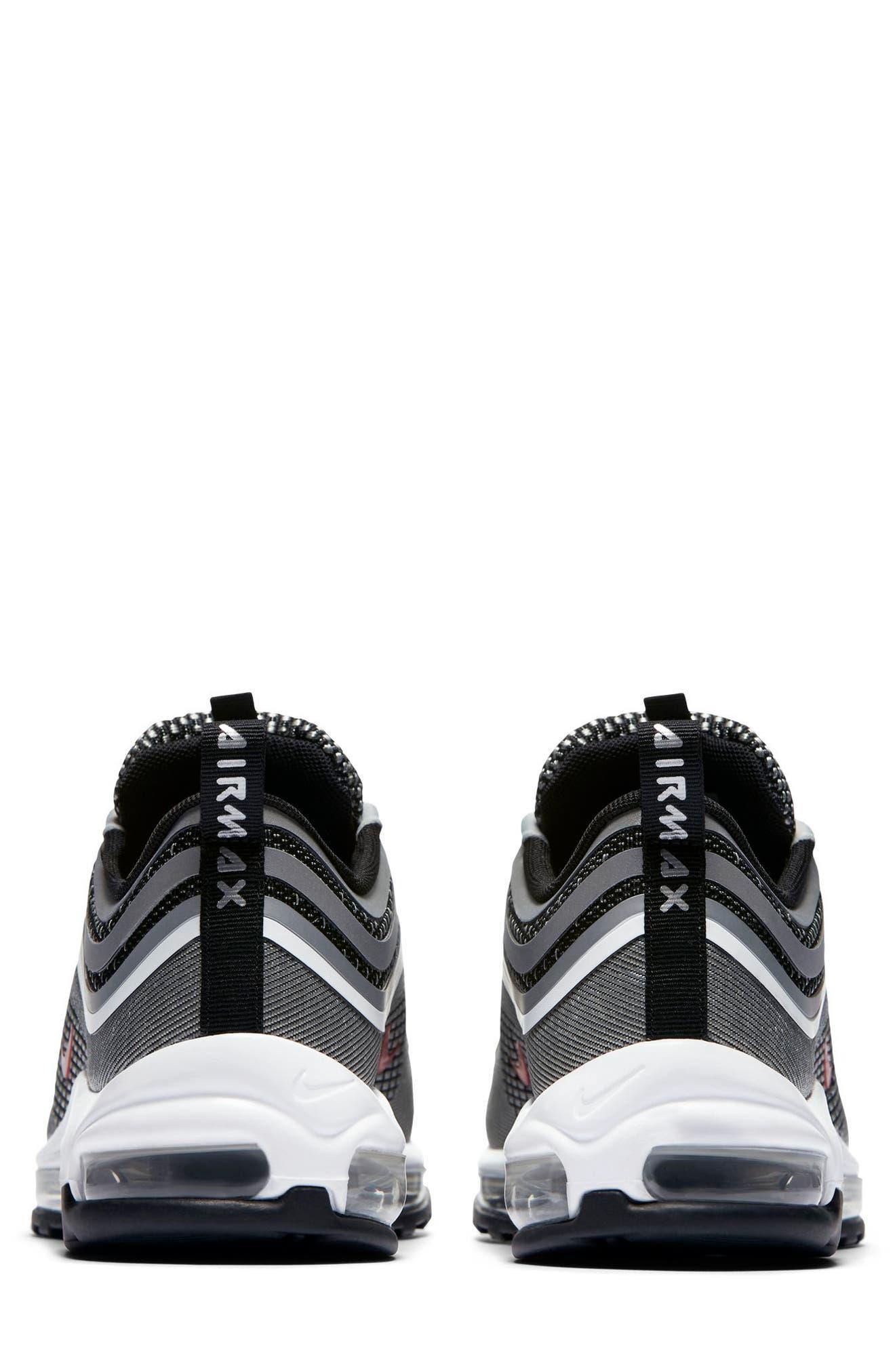 Air Max 97 Ultralight 2017 Sneaker,                             Alternate thumbnail 4, color,                             Metallic Silver/ Varsity Red