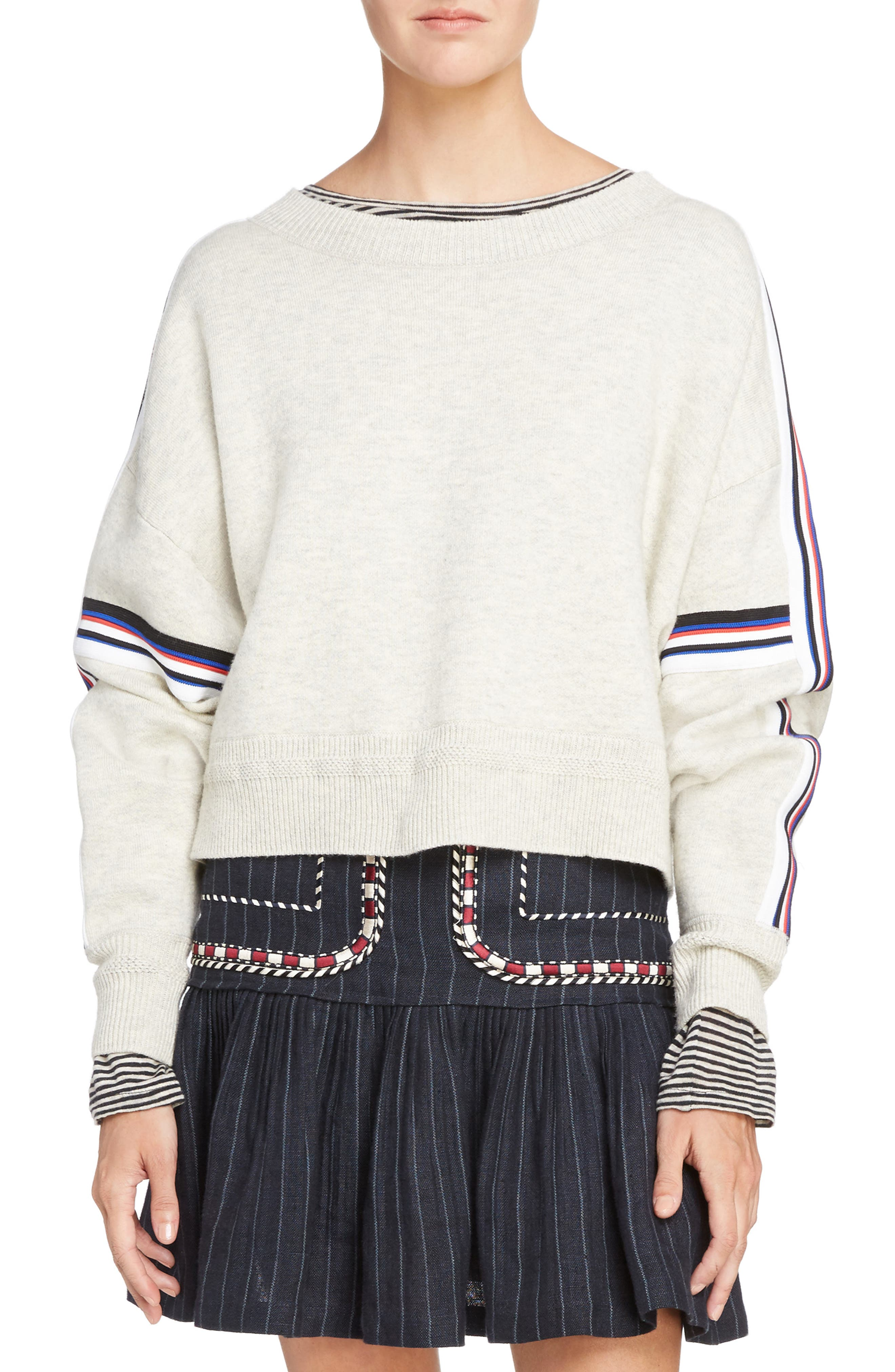 Isabel Marant Étoile Kao Sweatshirt,                         Main,                         color, Light Grey