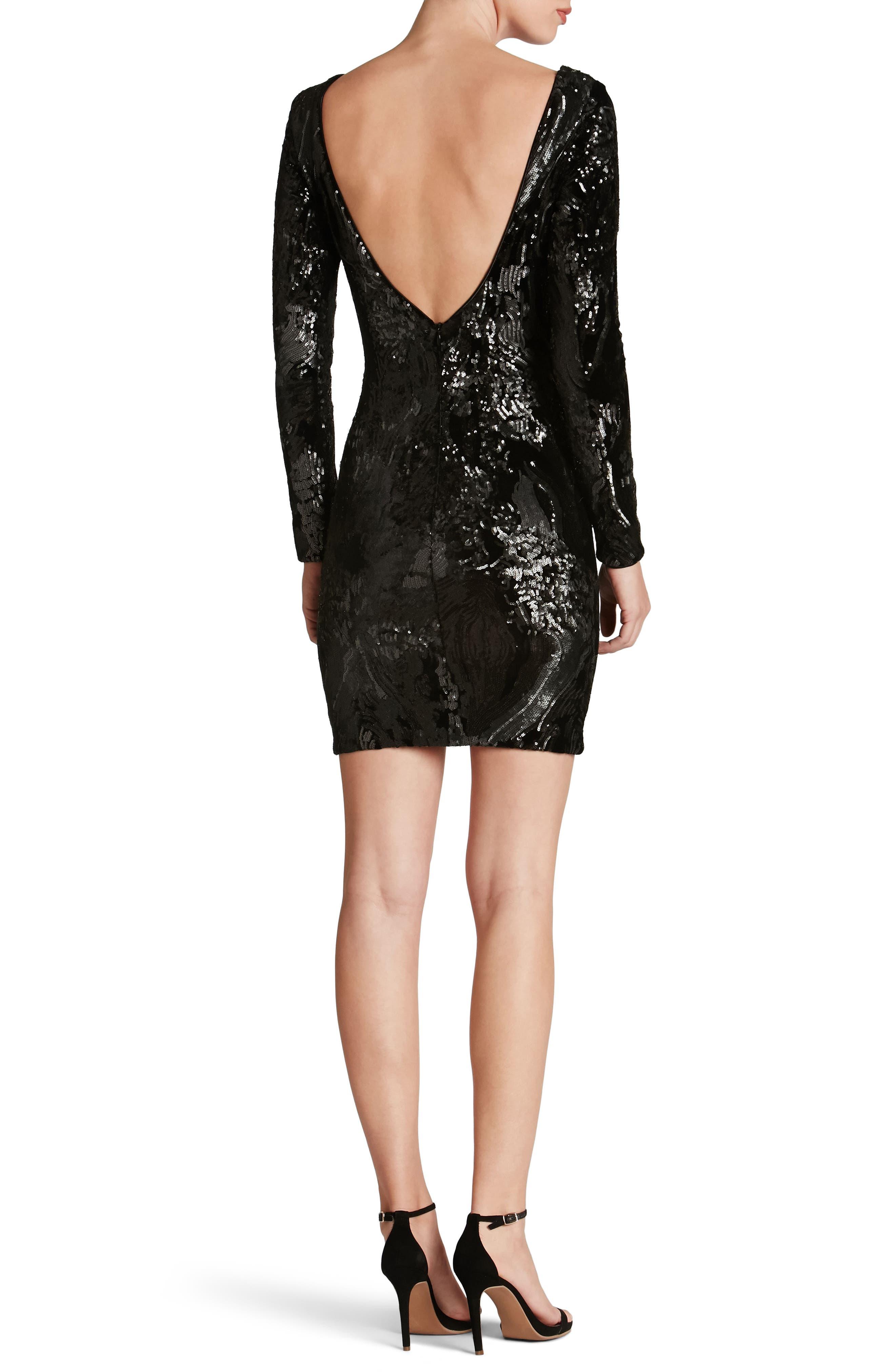 Alternate Image 2  - Dress the Population Lola Sequin Velvet Body-Con Dress