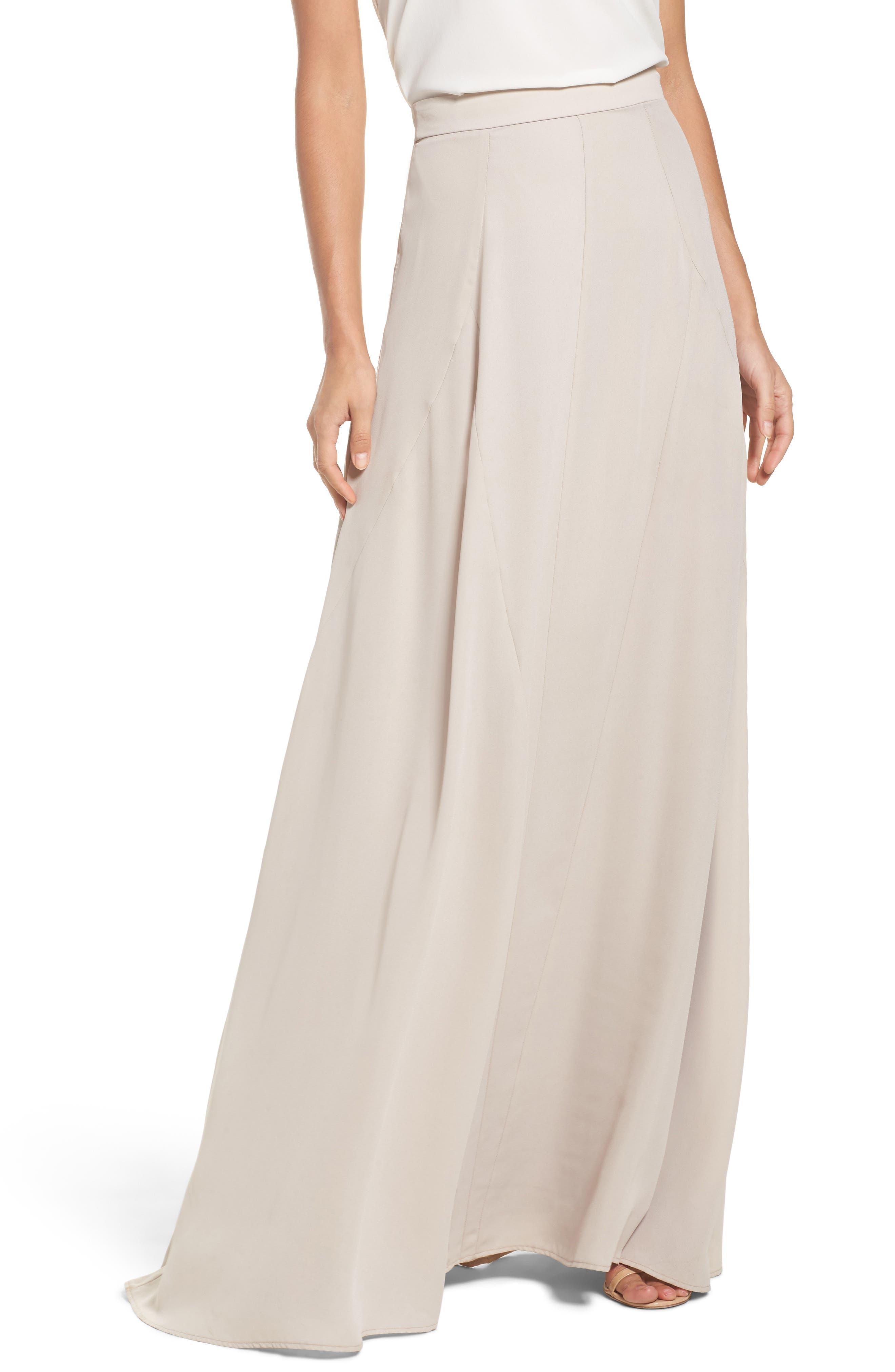 Chiffon Skirt,                         Main,                         color, Show Me The Ring Crisp