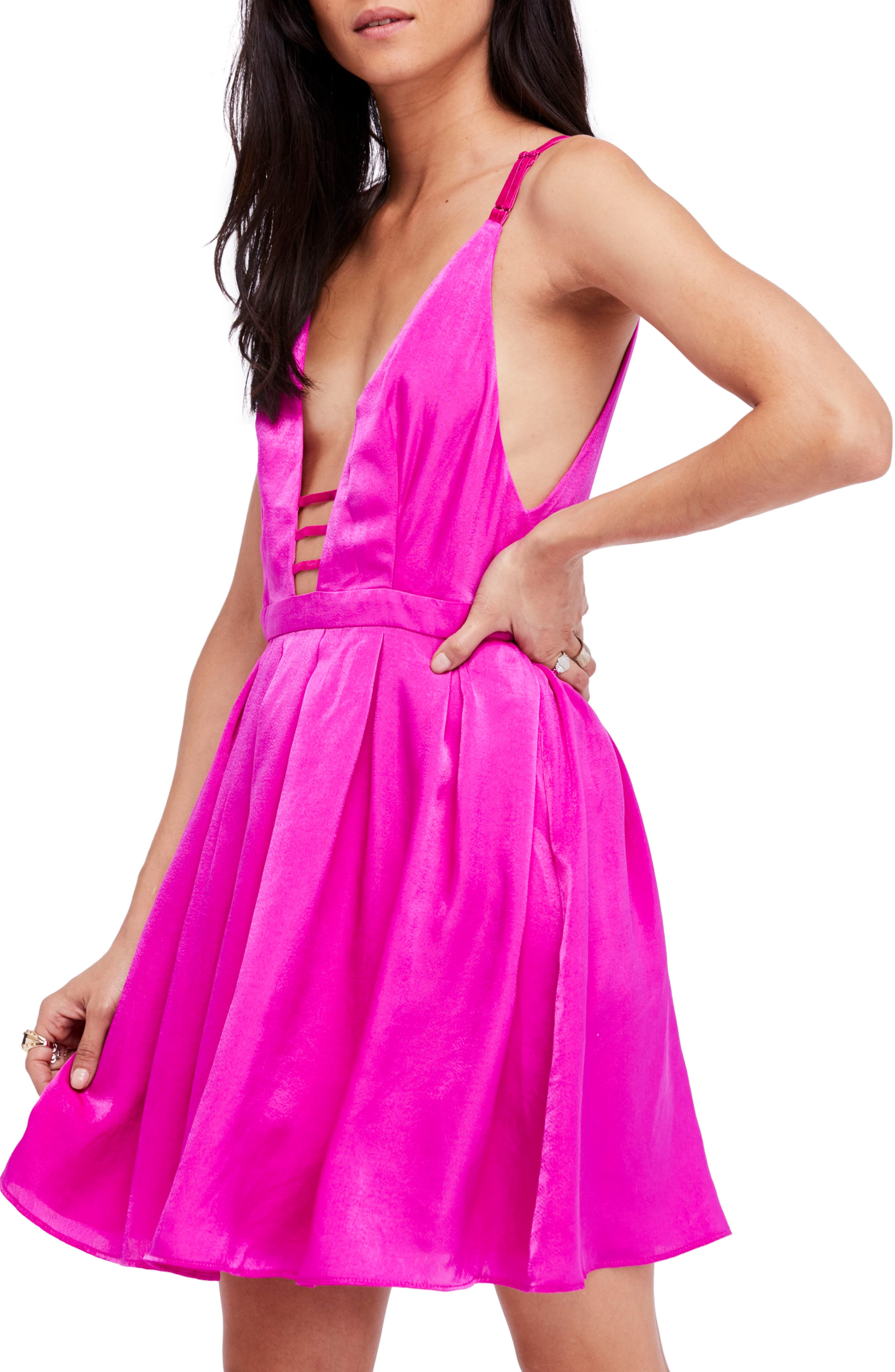 Gabby's Party All Night Minidress,                         Main,                         color, Pink