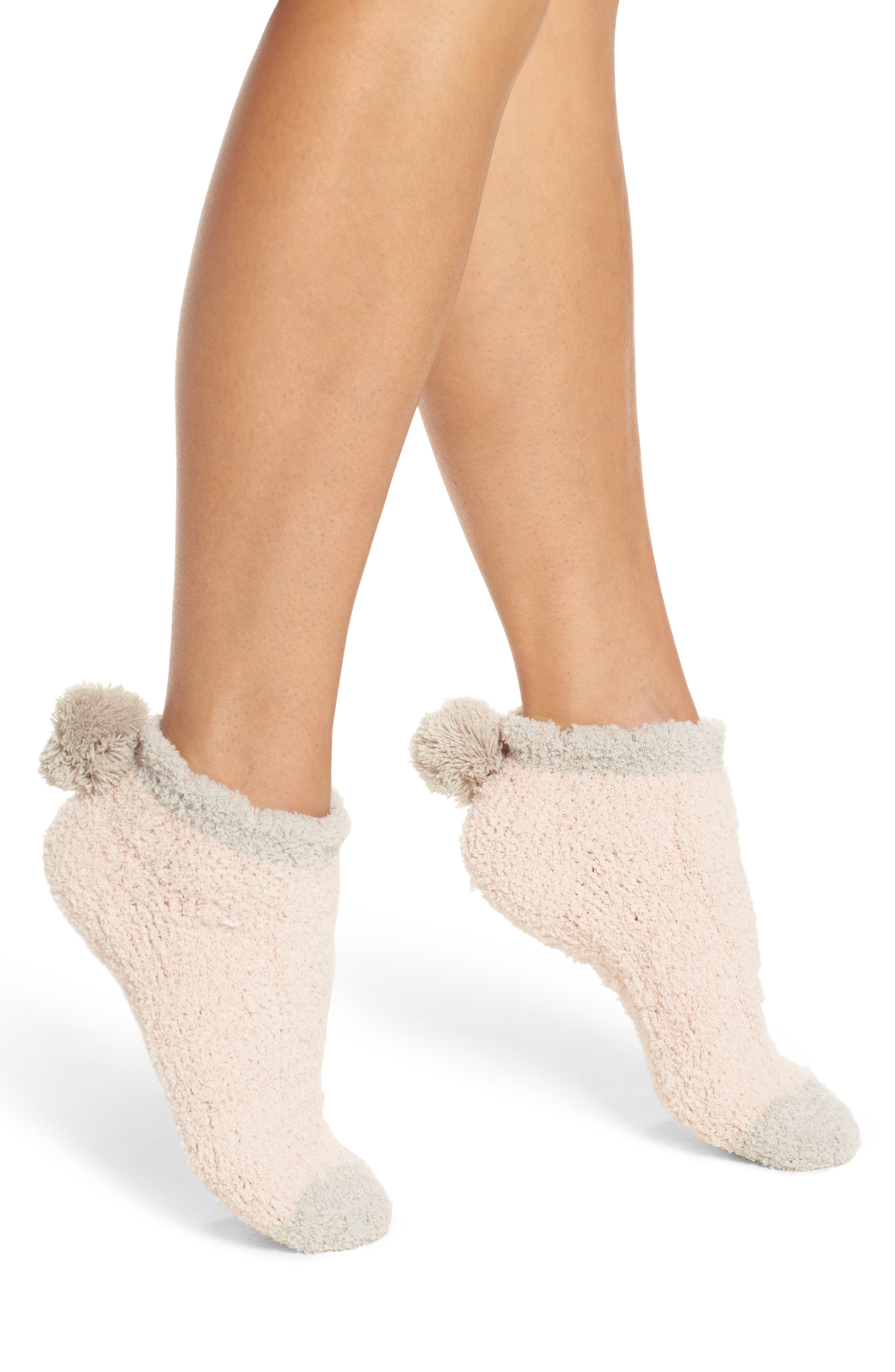 Main Image - Lemon 2-Pack Pom Pom No-Show Socks