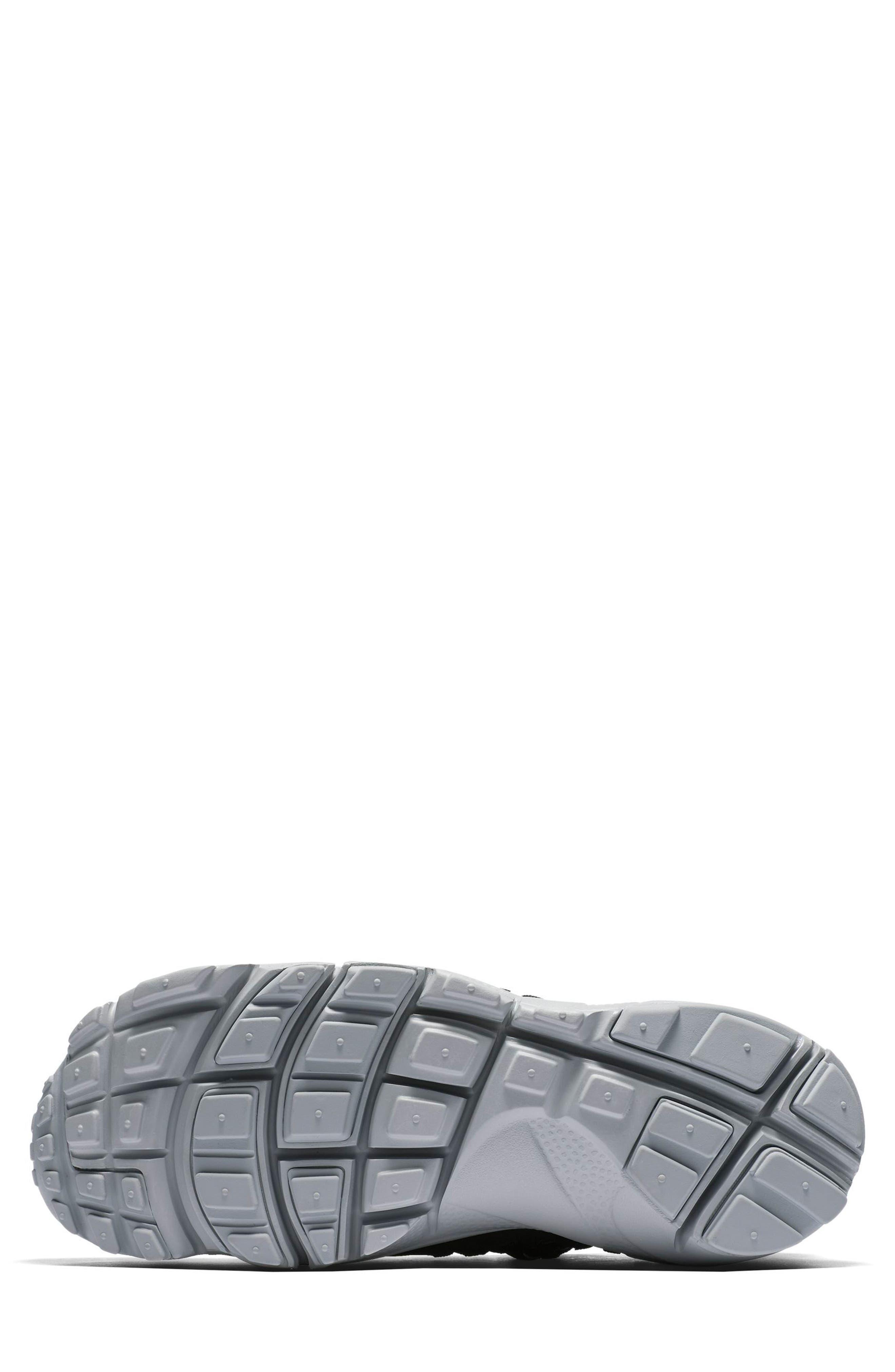 Air Footscape Woven Sneaker,                             Alternate thumbnail 6, color,                             Black/ Black/ Silver/ Grey