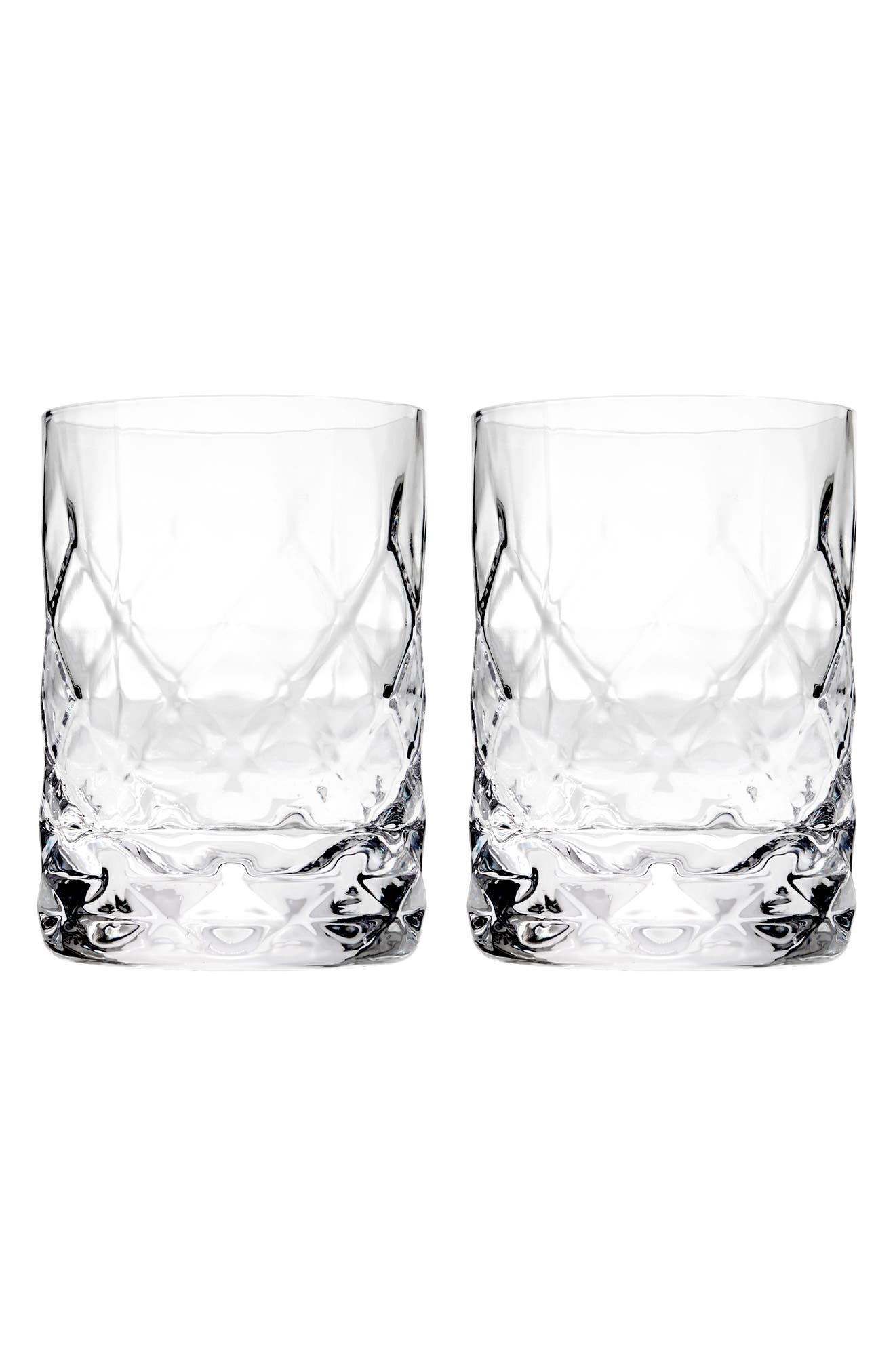 Set of 2 Double Old Fashioned Glasses,                         Main,                         color, Clear
