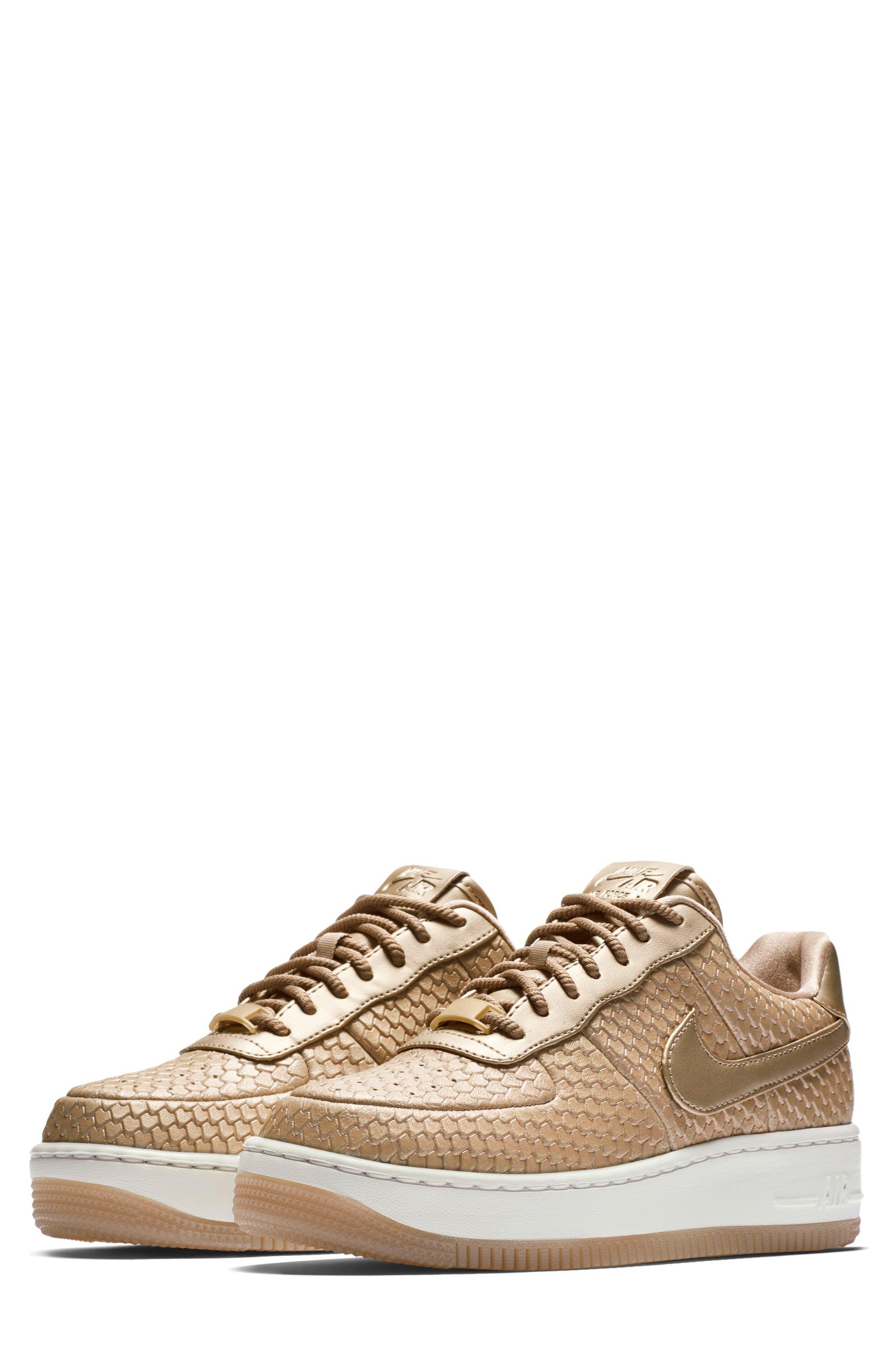 Air Force 1 Upstep Premium Platform Sneaker,                         Main,                         color, Blur/ Blur/ Summit White