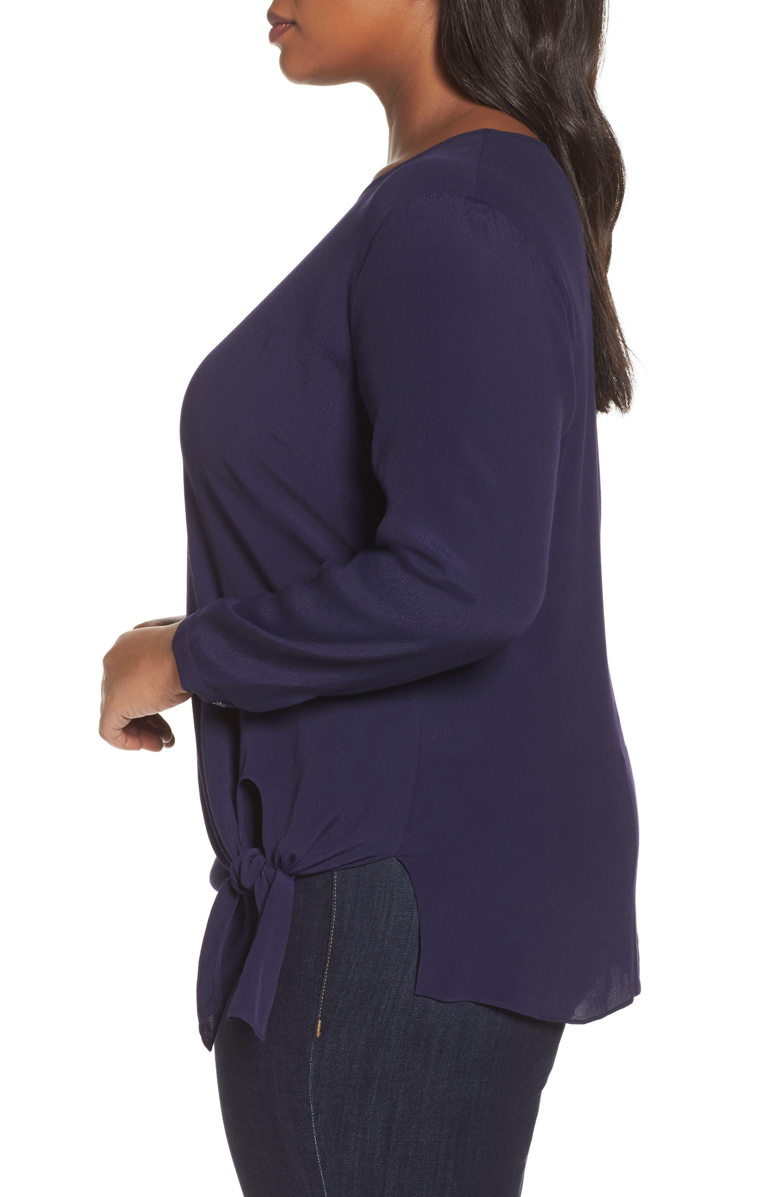 Alternate Image 3  - Sejour Side Tie Blouse (Plus Size)