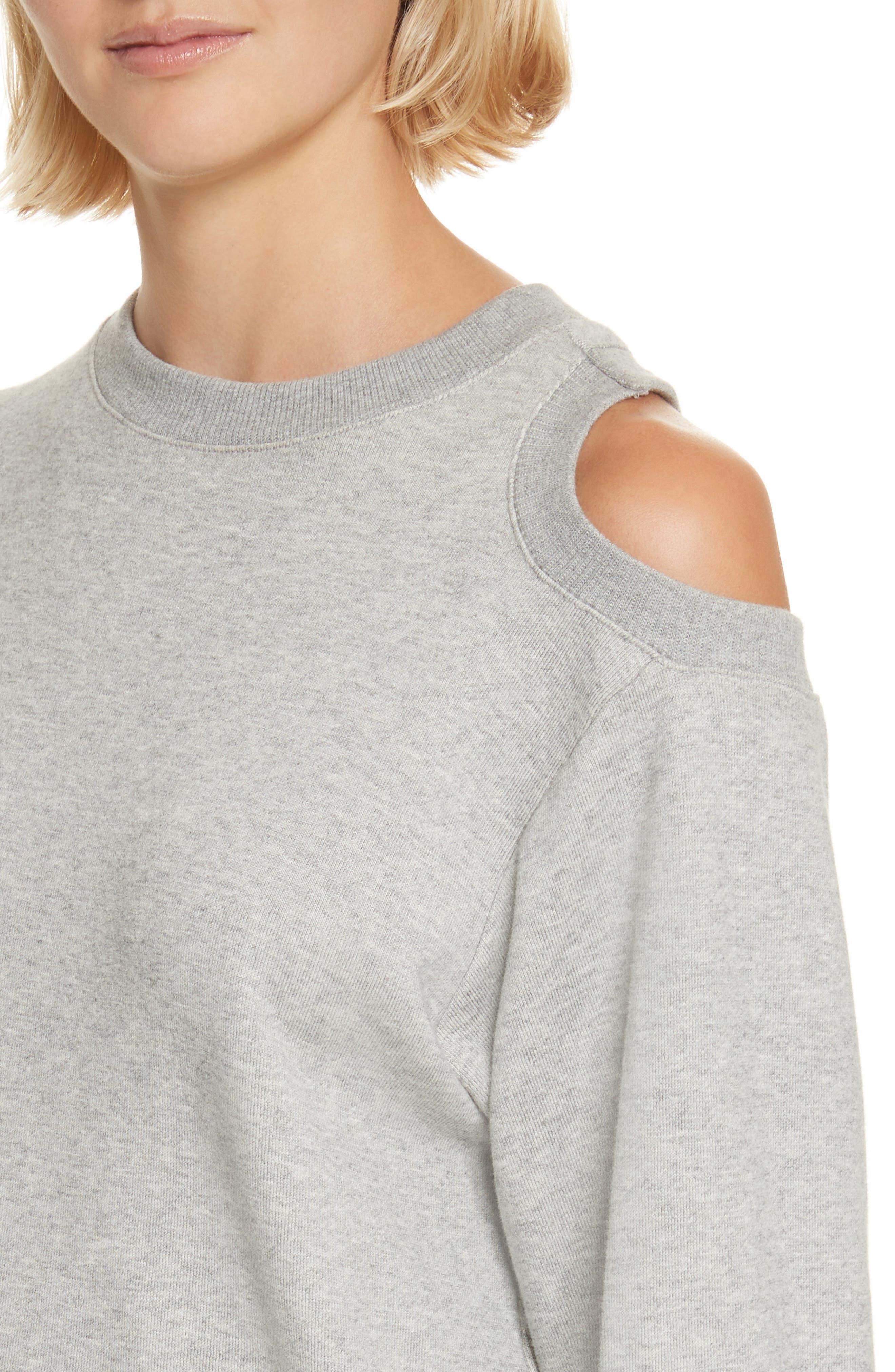 Covell Split Back Sweatshirt,                             Alternate thumbnail 4, color,                             Heather Grey