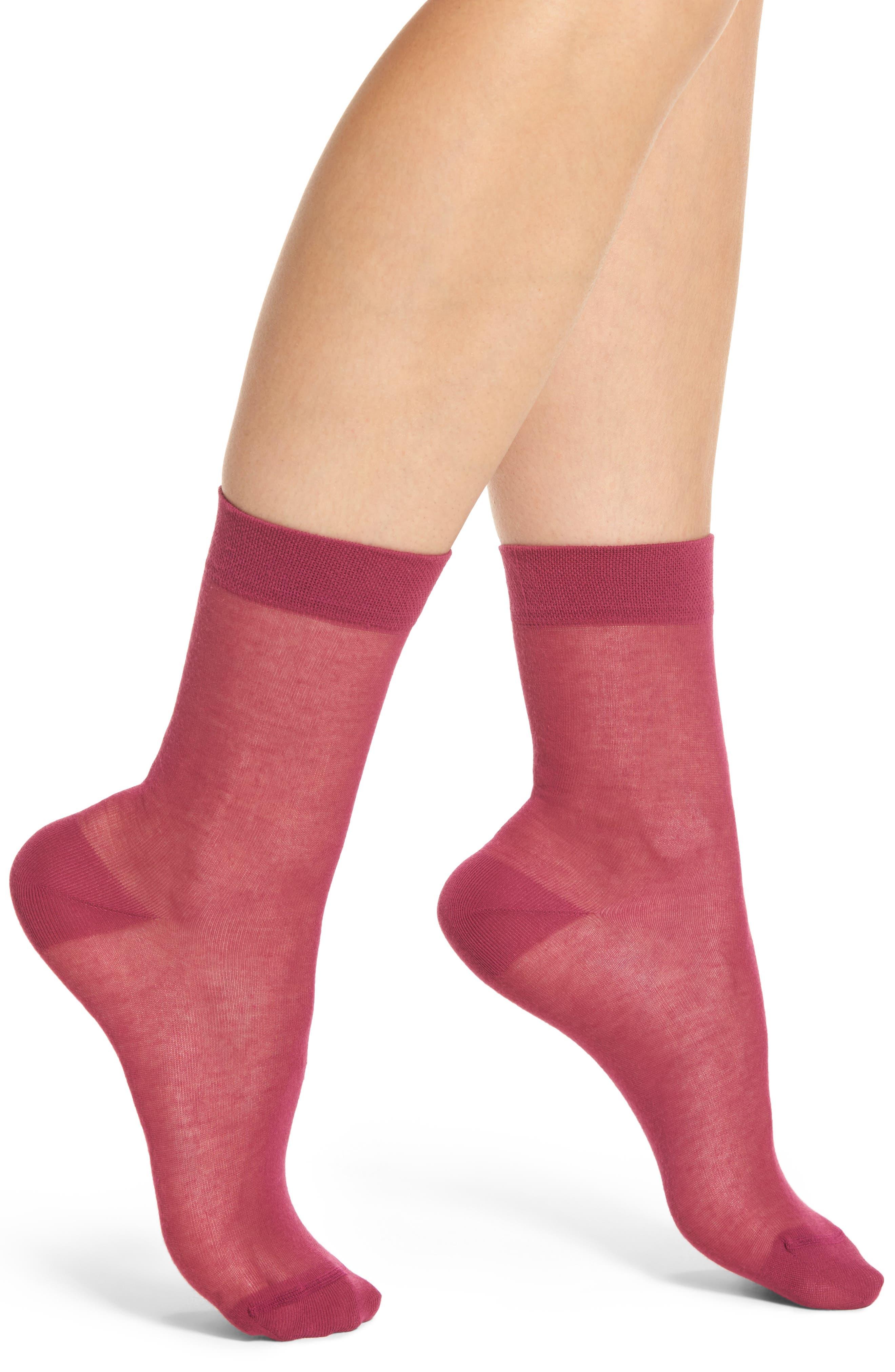 Alternate Image 1 Selected - Chelsea28 Sheer Crew Socks