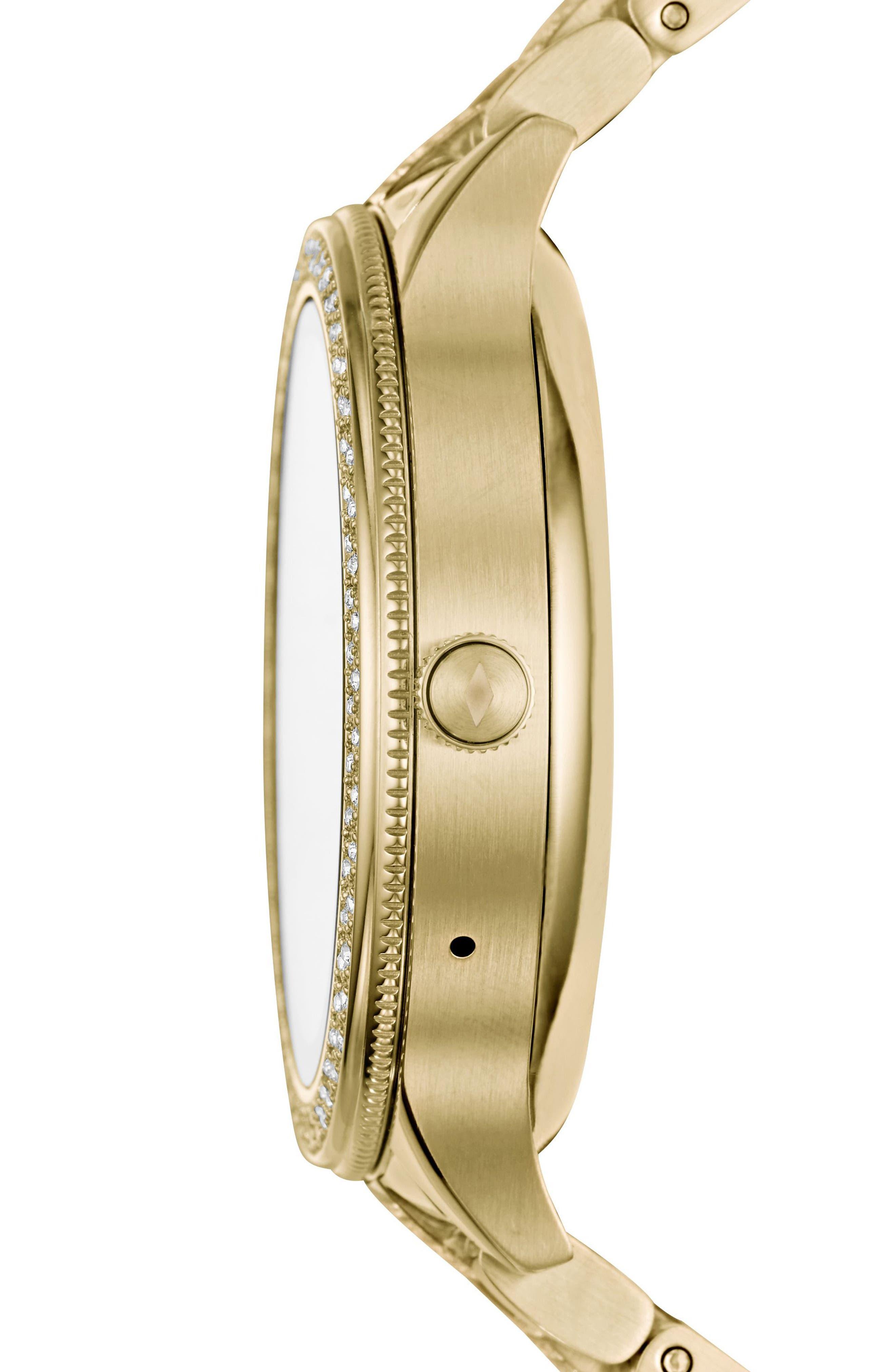 Venture Gen 3 Crystal Accent Bracelet Smartwatch, 42mm,                             Alternate thumbnail 2, color,                             Gold