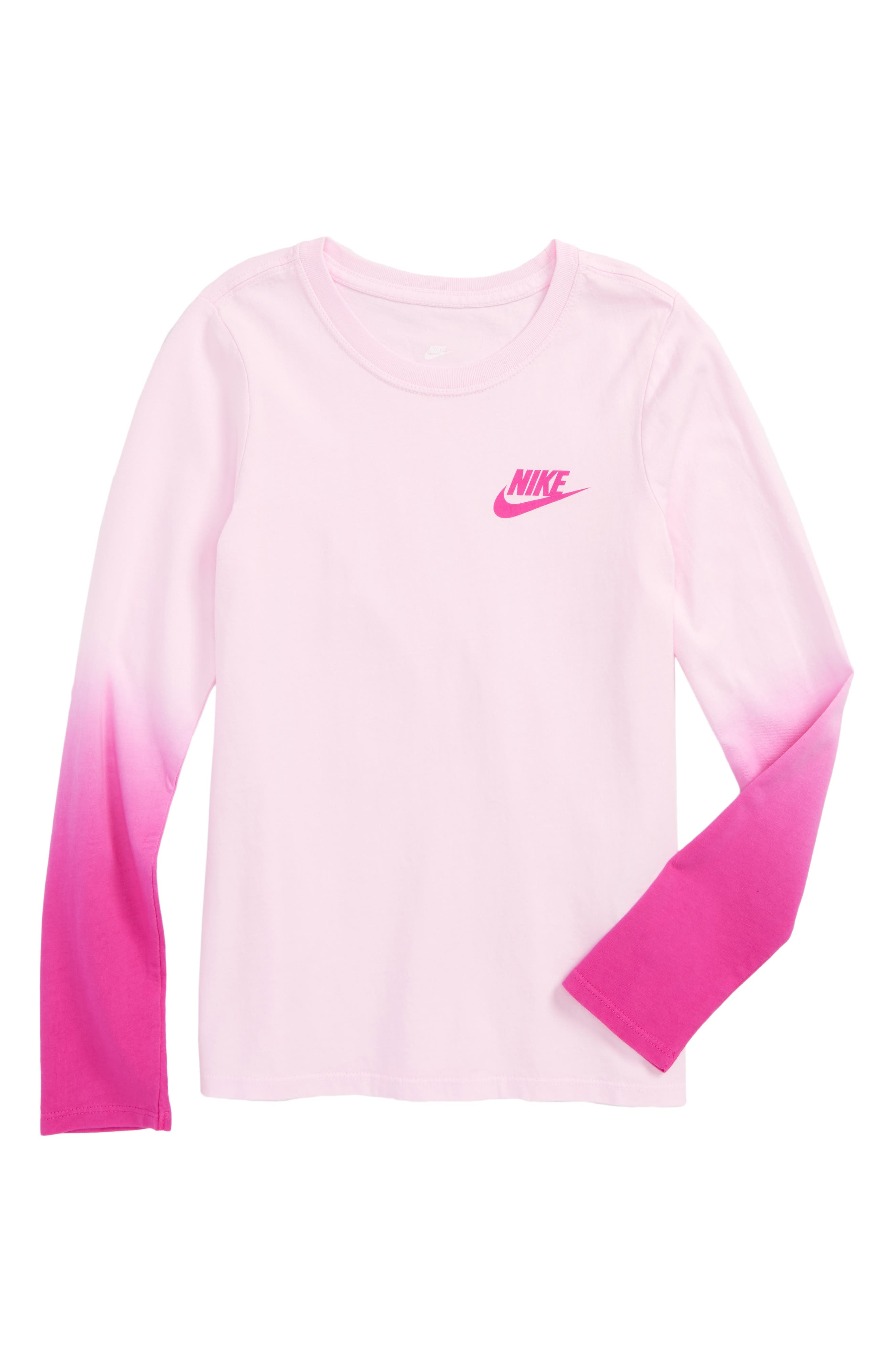 Alternate Image 1 Selected - Nike Dip Dye Tee (Big Girls)