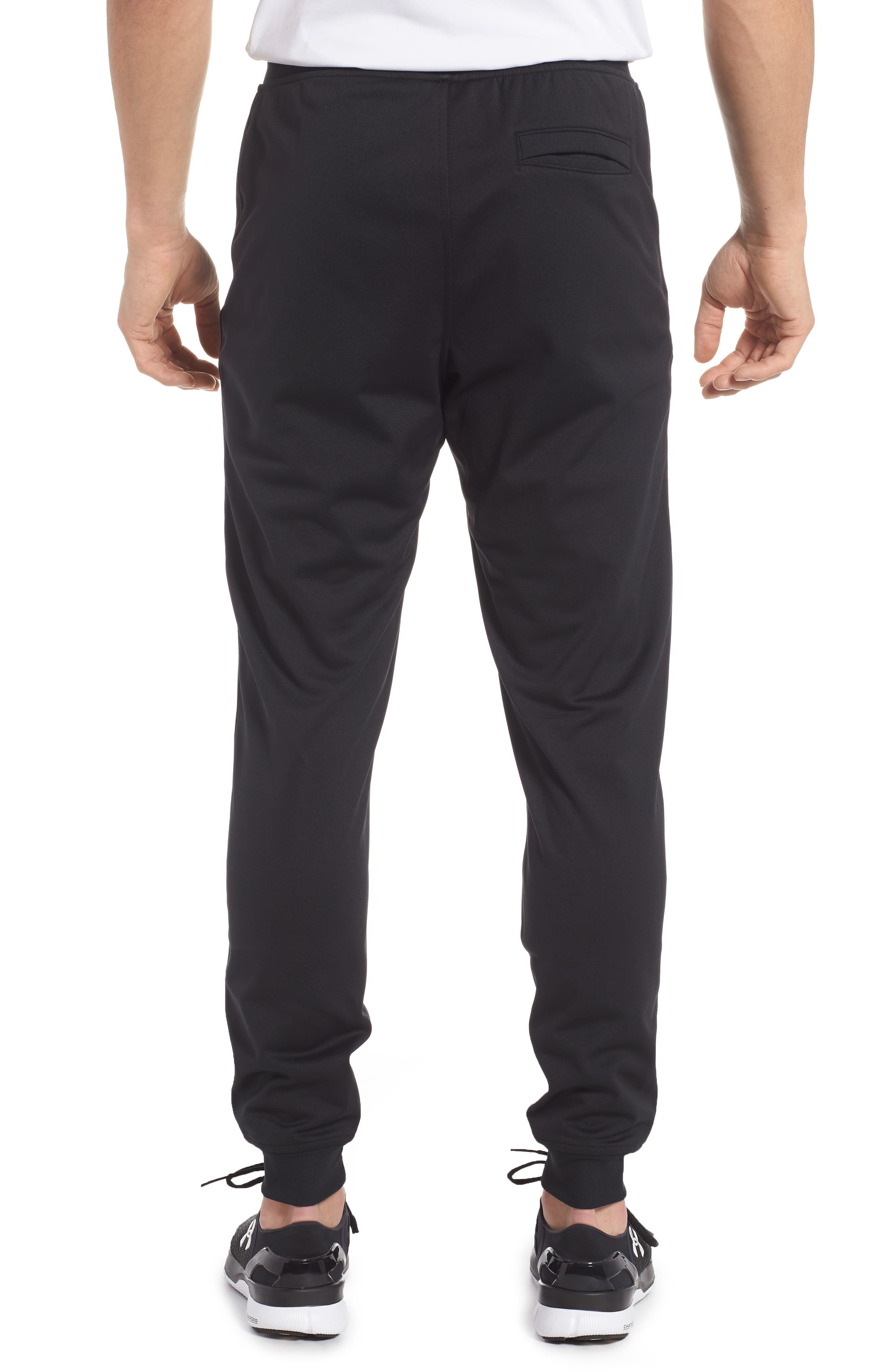 Sportstyle Knit Jogger Pants,                             Alternate thumbnail 2, color,                             Black/ White
