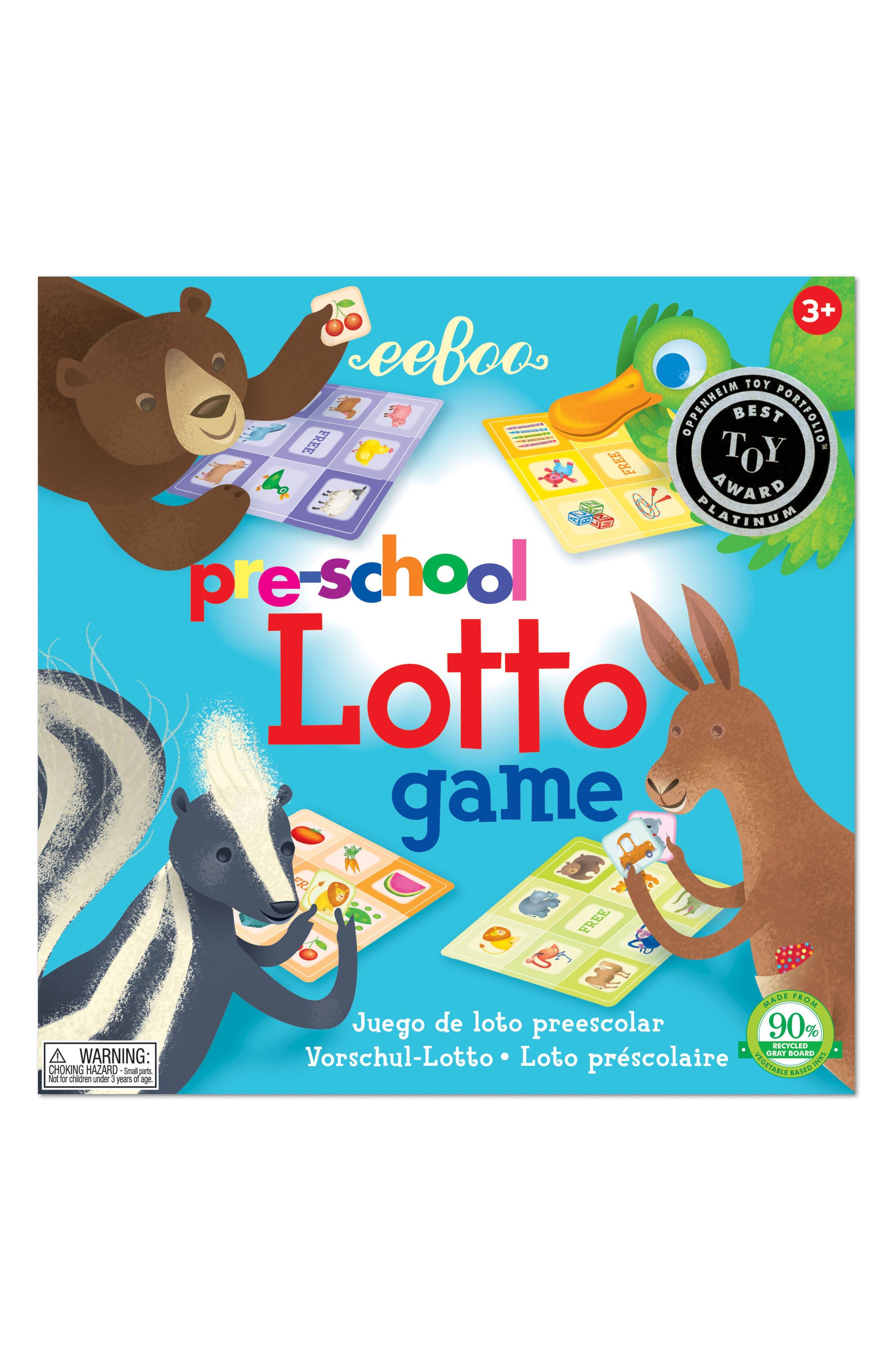 42-Piece Preschool Lotto Game,                             Main thumbnail 1, color,                             Multi