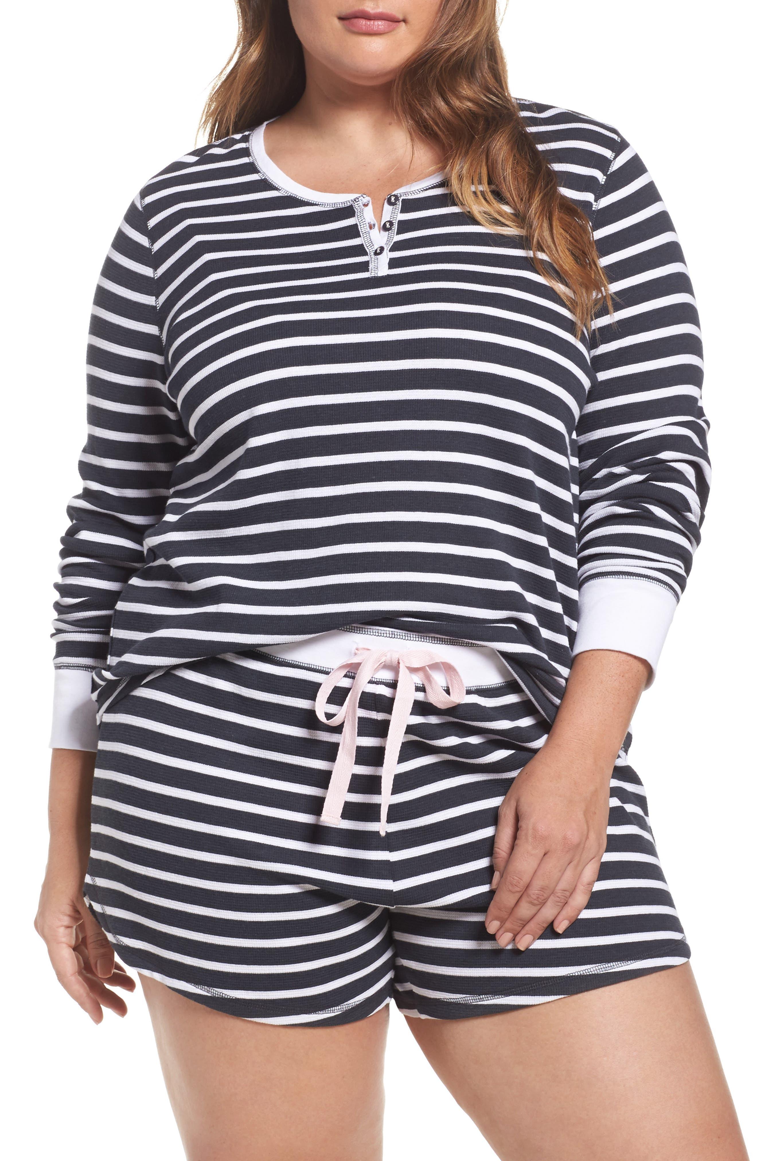 PJ Salvage Thermal Short Pajamas (Plus Size)