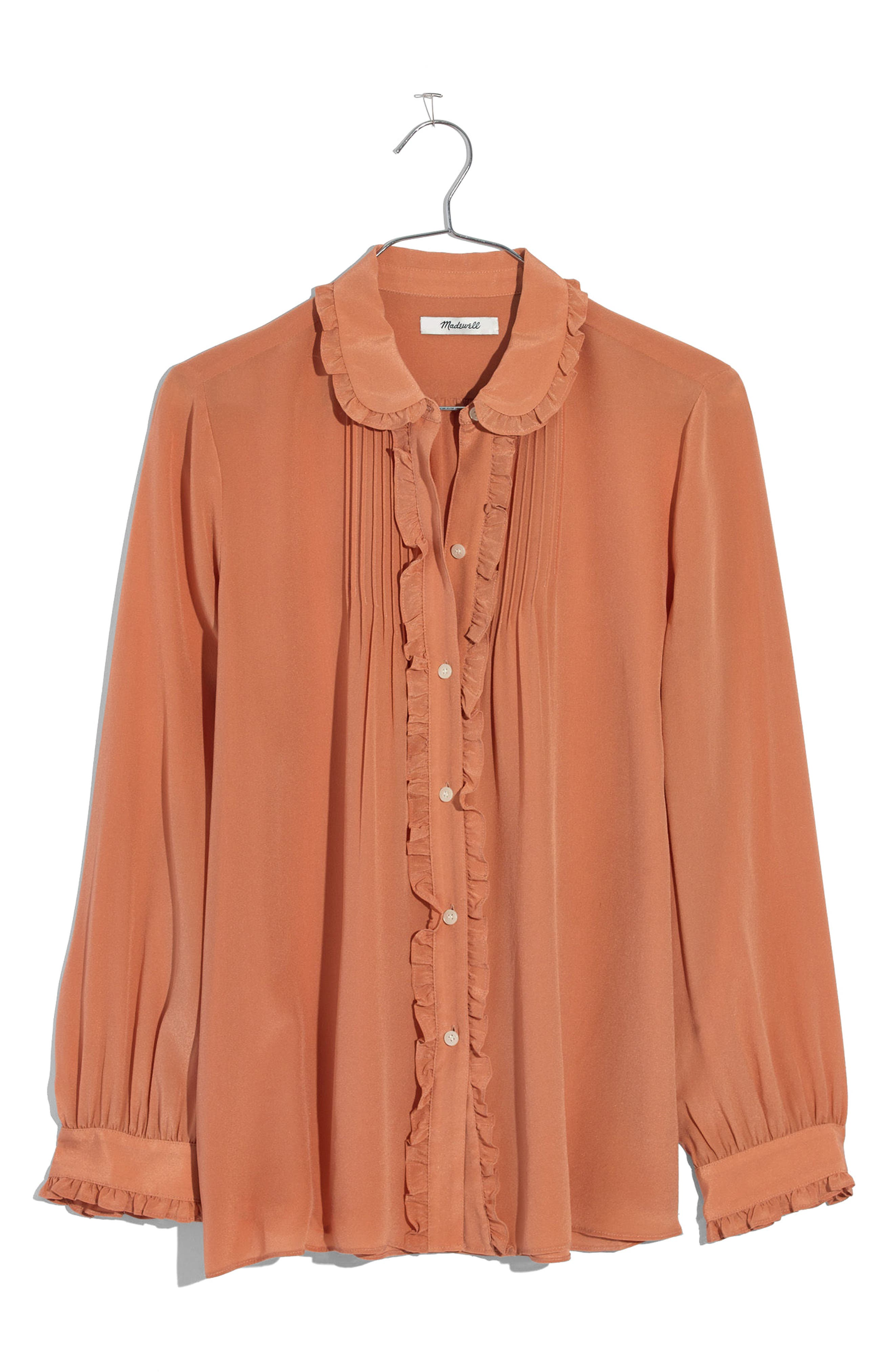 Alternate Image 4  - Madewell Silk Ruffle Blouse