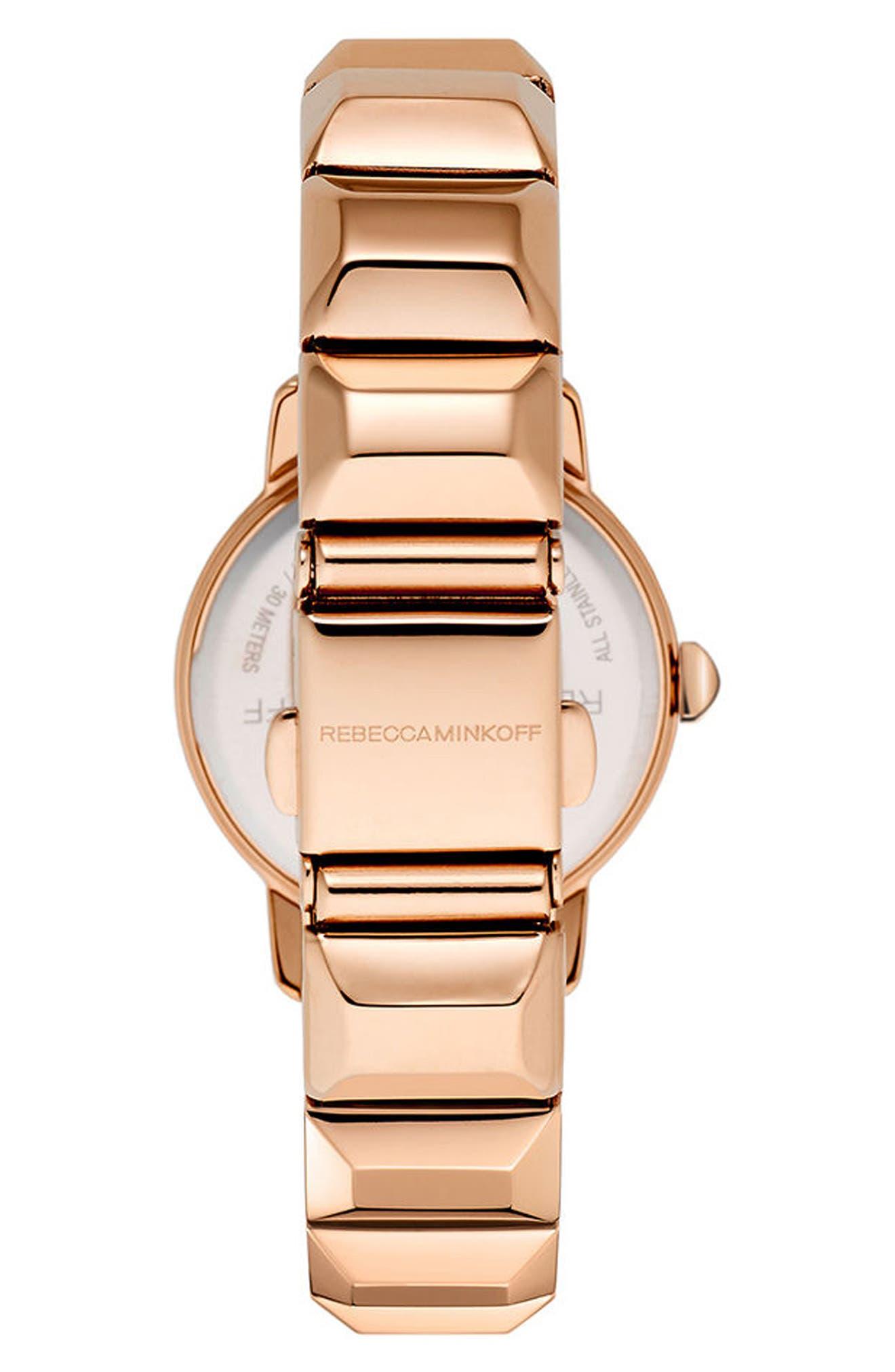 BFFL Bracelet Watch, 25mm,                             Alternate thumbnail 2, color,                             Rose Gold/ Black/ Rose Gold