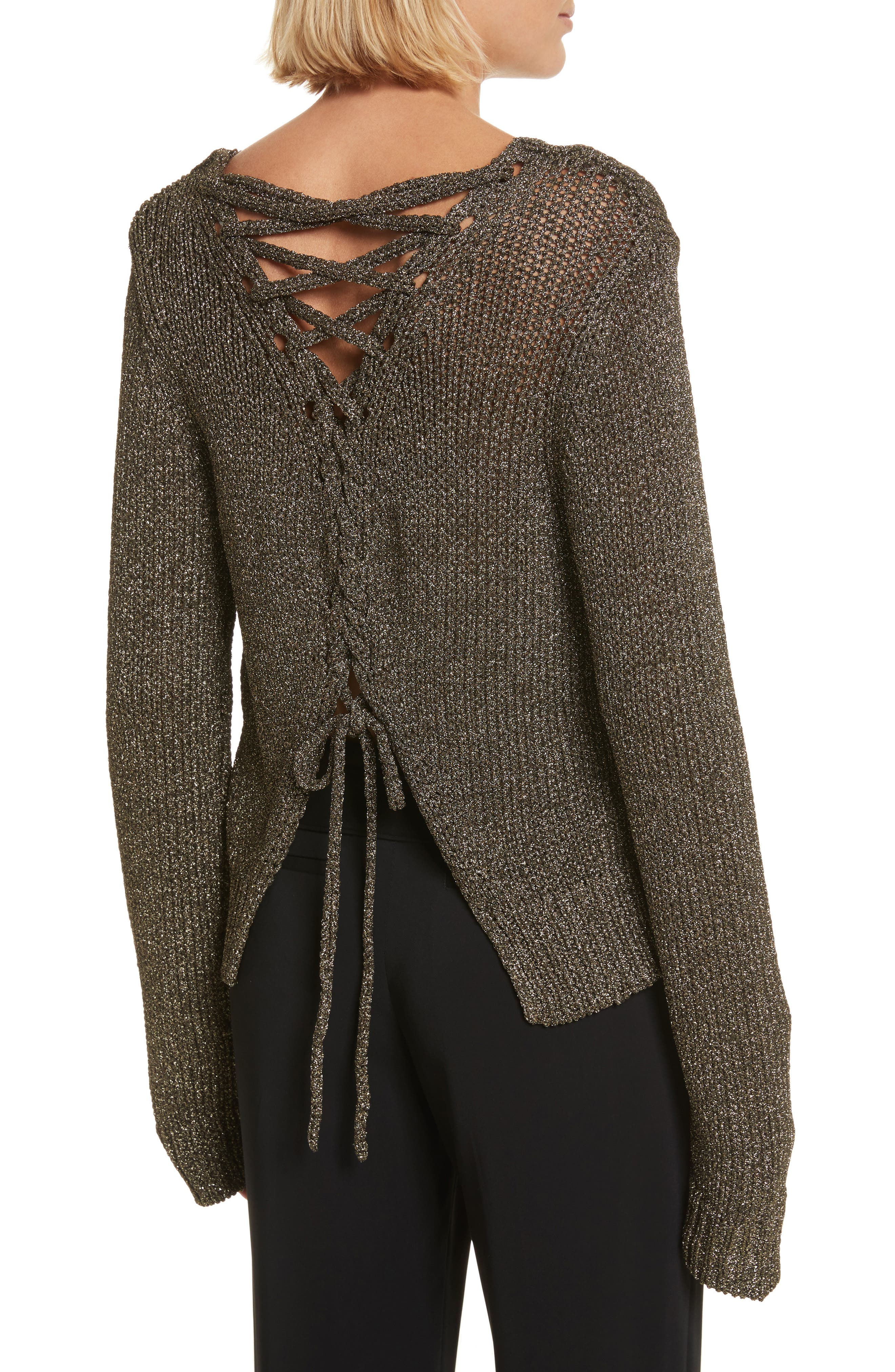 A.L.C. Marjorie Lace-Up Back Sweater